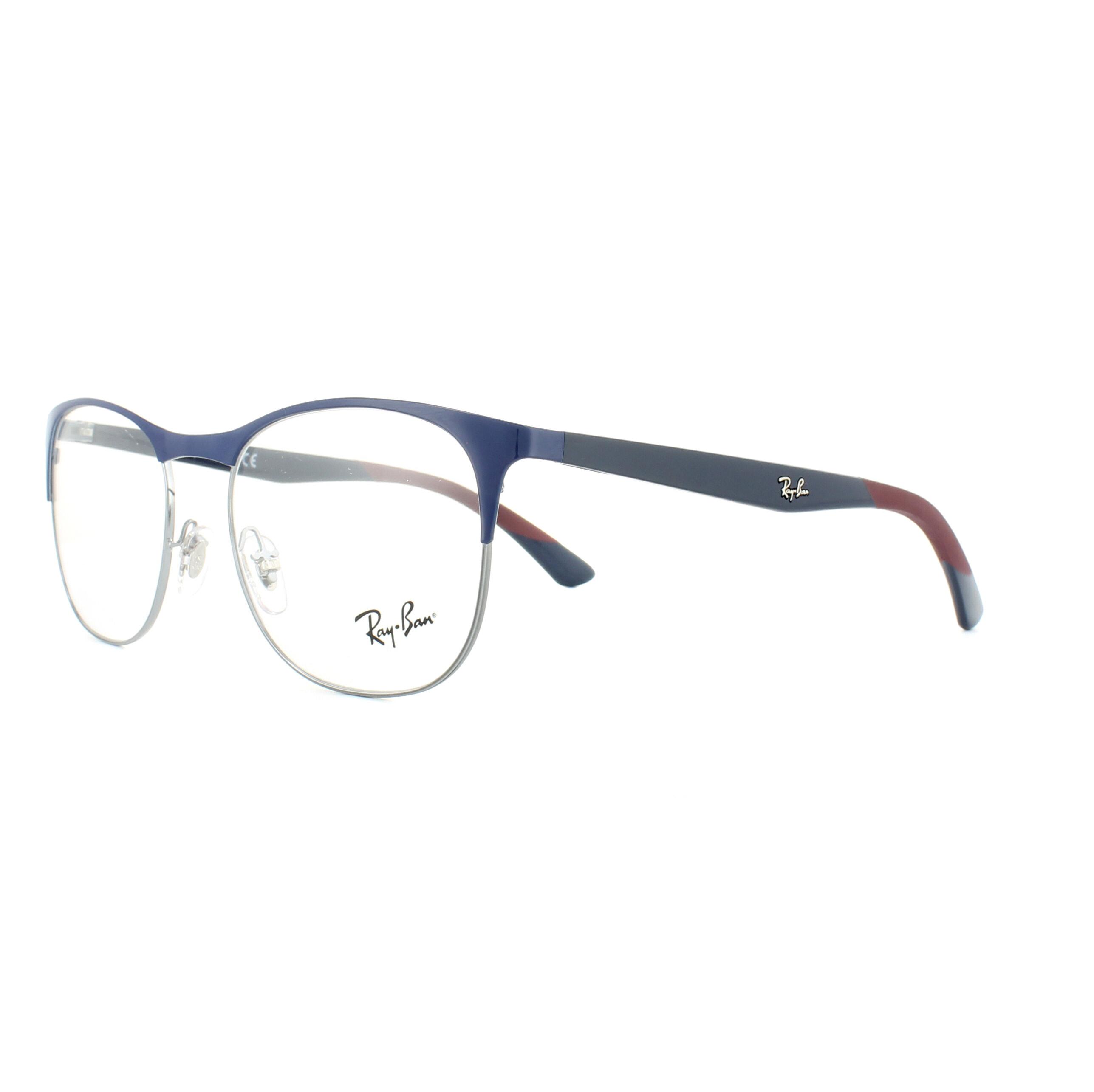Details About Ray Ban Glasses Frames 6412 2967 Gunmetal Blue 50mm Mens