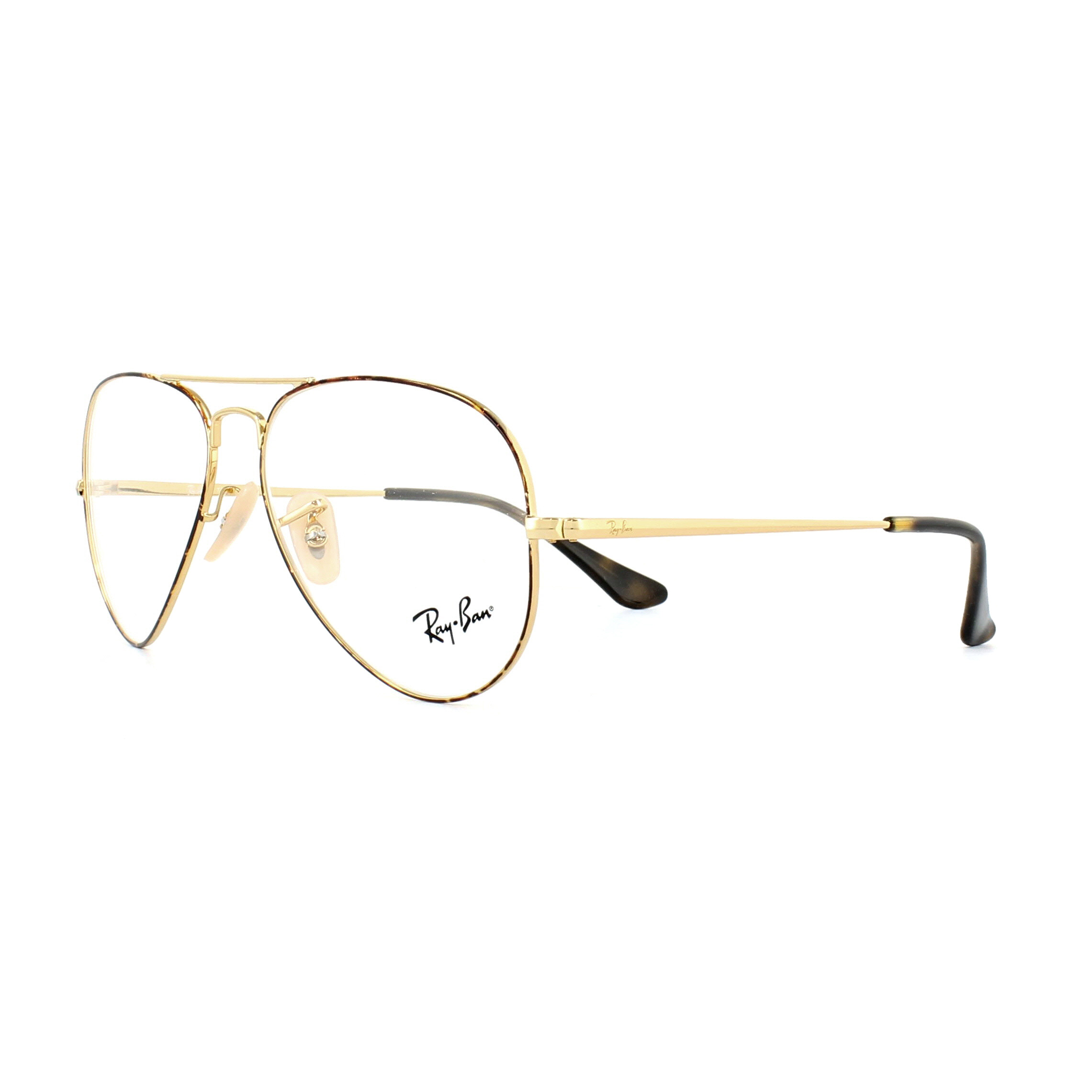 148040e9604a2 Sentinel Ray-Ban Glasses Frames 6489 Aviator 2945 Gold Top on Havana 58mm  Mens