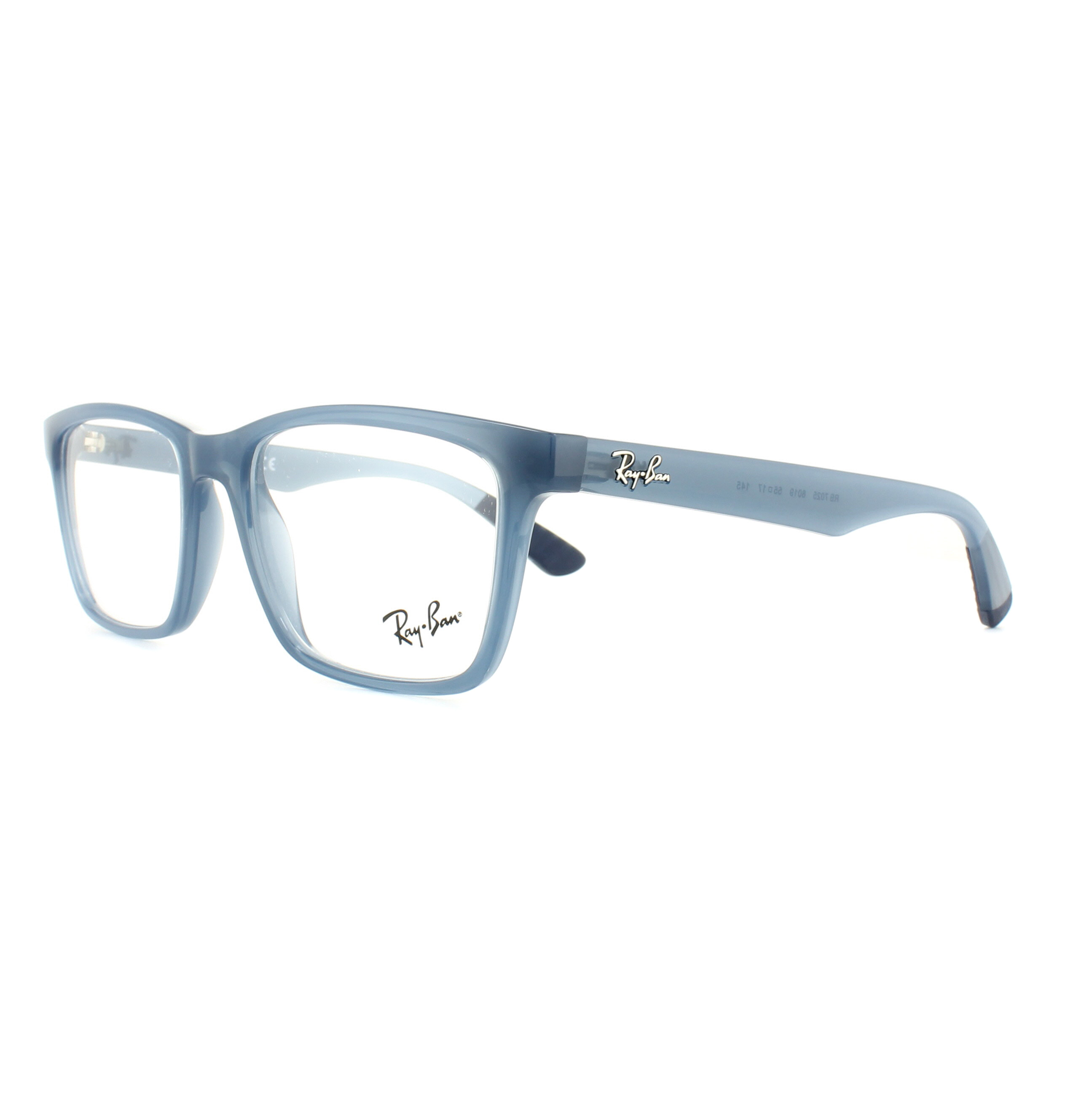 1fb27abf08 Sentinel Ray-Ban Glasses Frames 7025 8019 Transparent Light Blue 55mm Mens