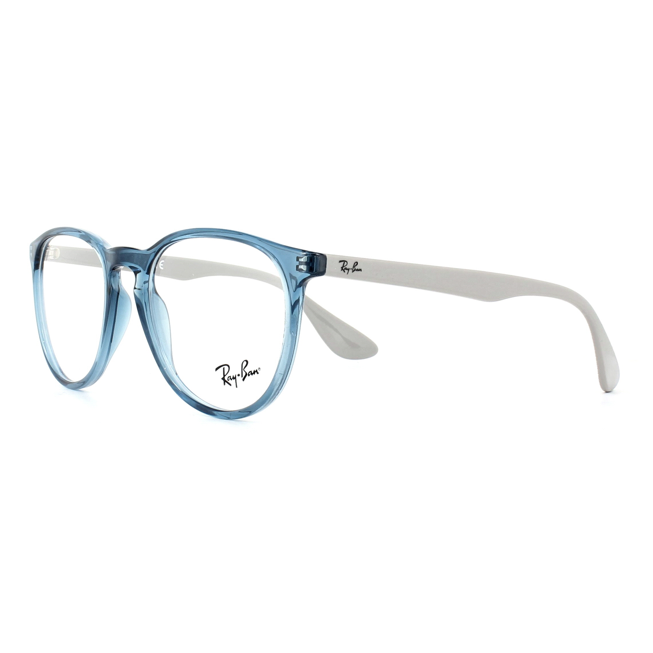 22e116e53c Sentinel Ray-Ban Glasses Frames 7046 Erika 5732 Transparent Blue 51mm Womens