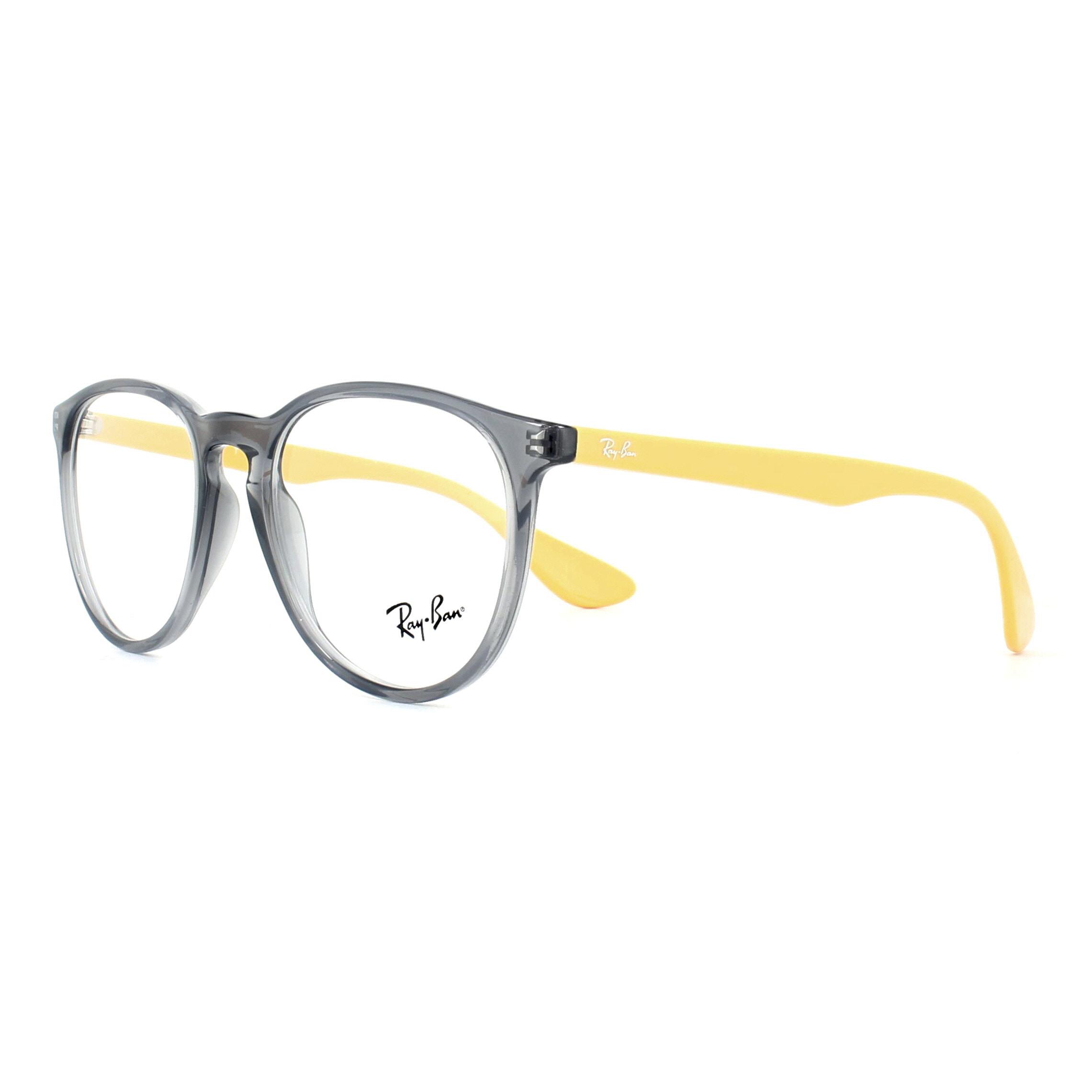 c3937f519a Sentinel Ray-Ban Glasses Frames 7046 Erika 5733 Opal Grey Yellow 51mm Womens