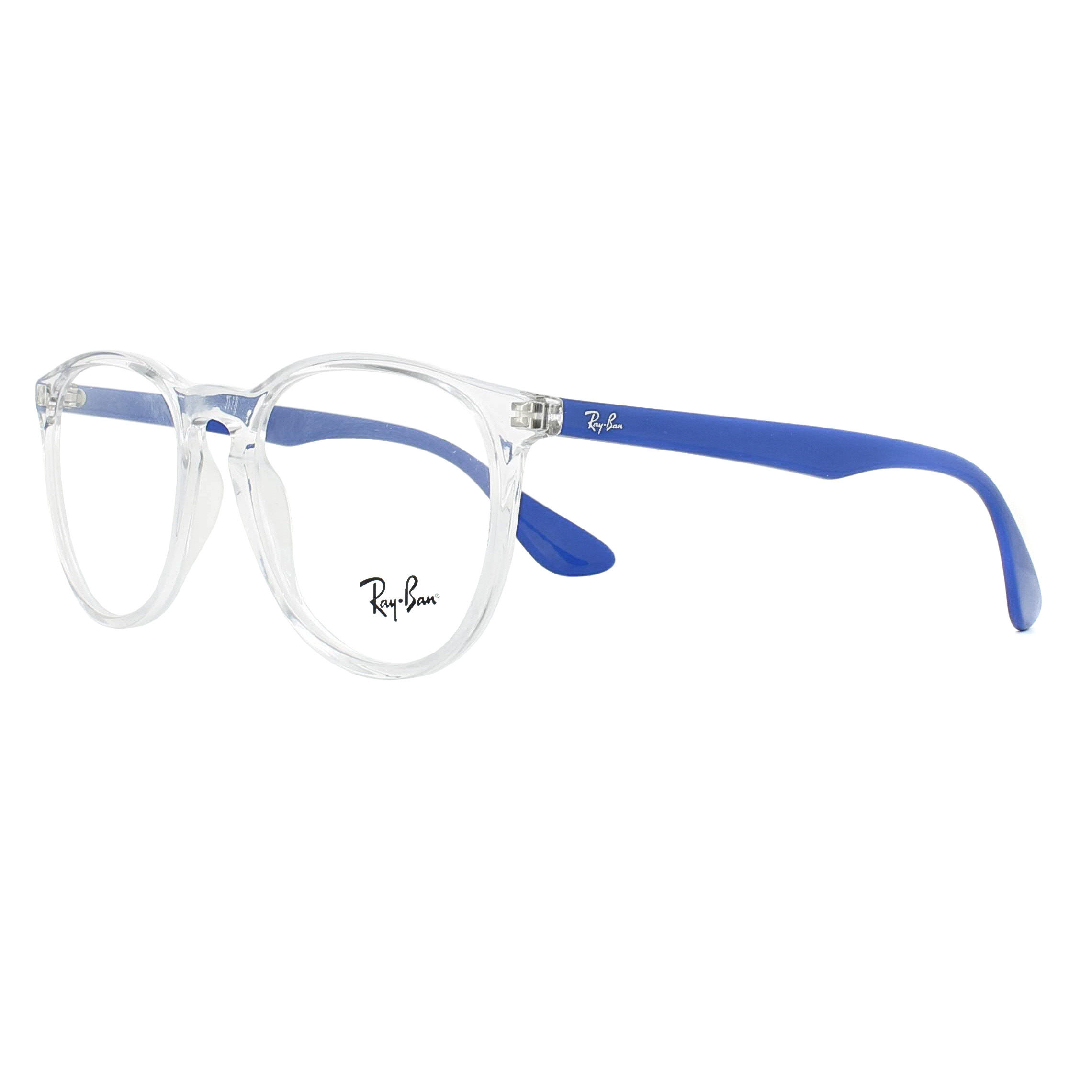 Ray-Ban Glasses Frames 7046 Erika 5734 Transparent with Blue 51mm ...
