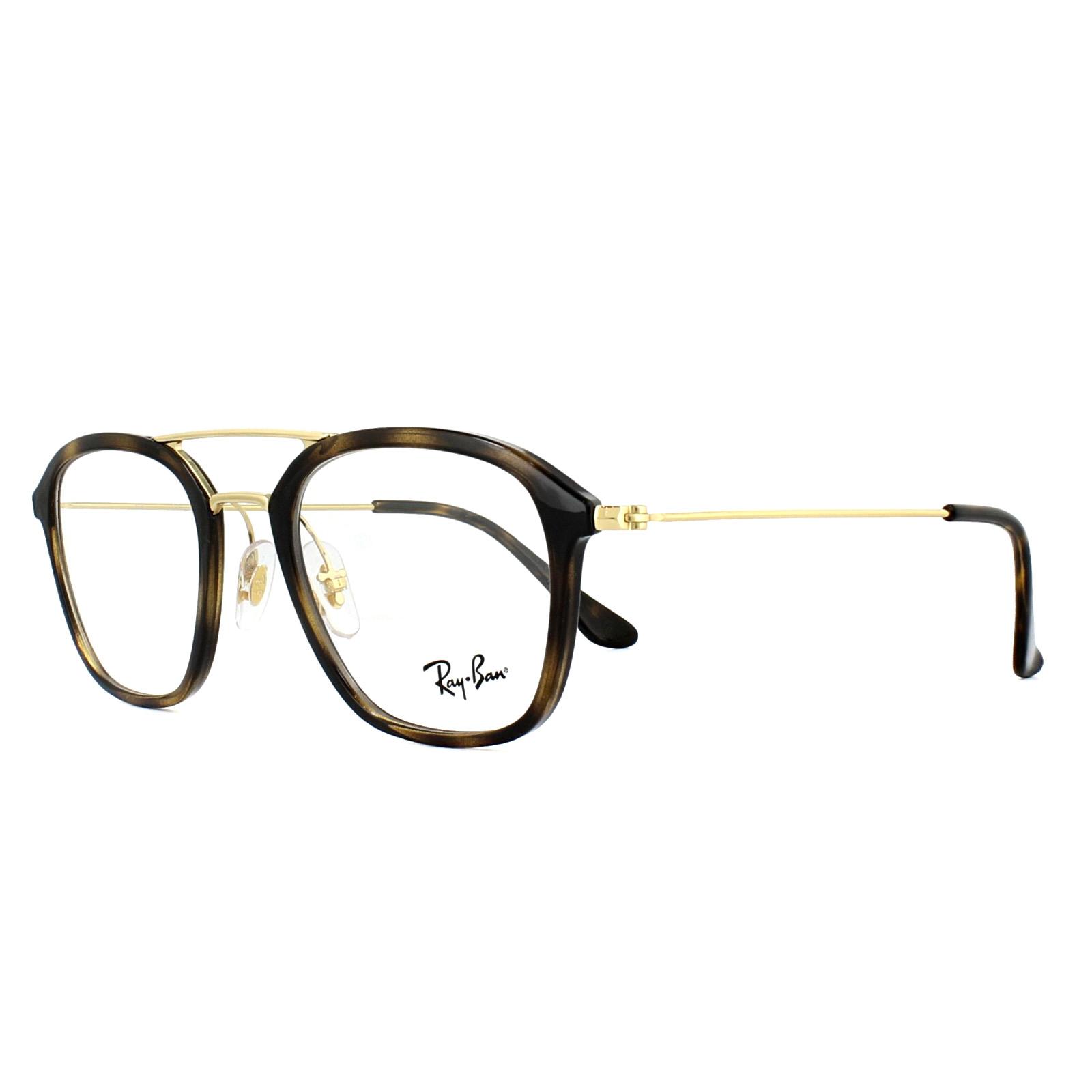 8670ef9095837 Ray-Ban Glasses Frames 7098 2012 Havana Gold 50mm Mens 8053672603736 ...