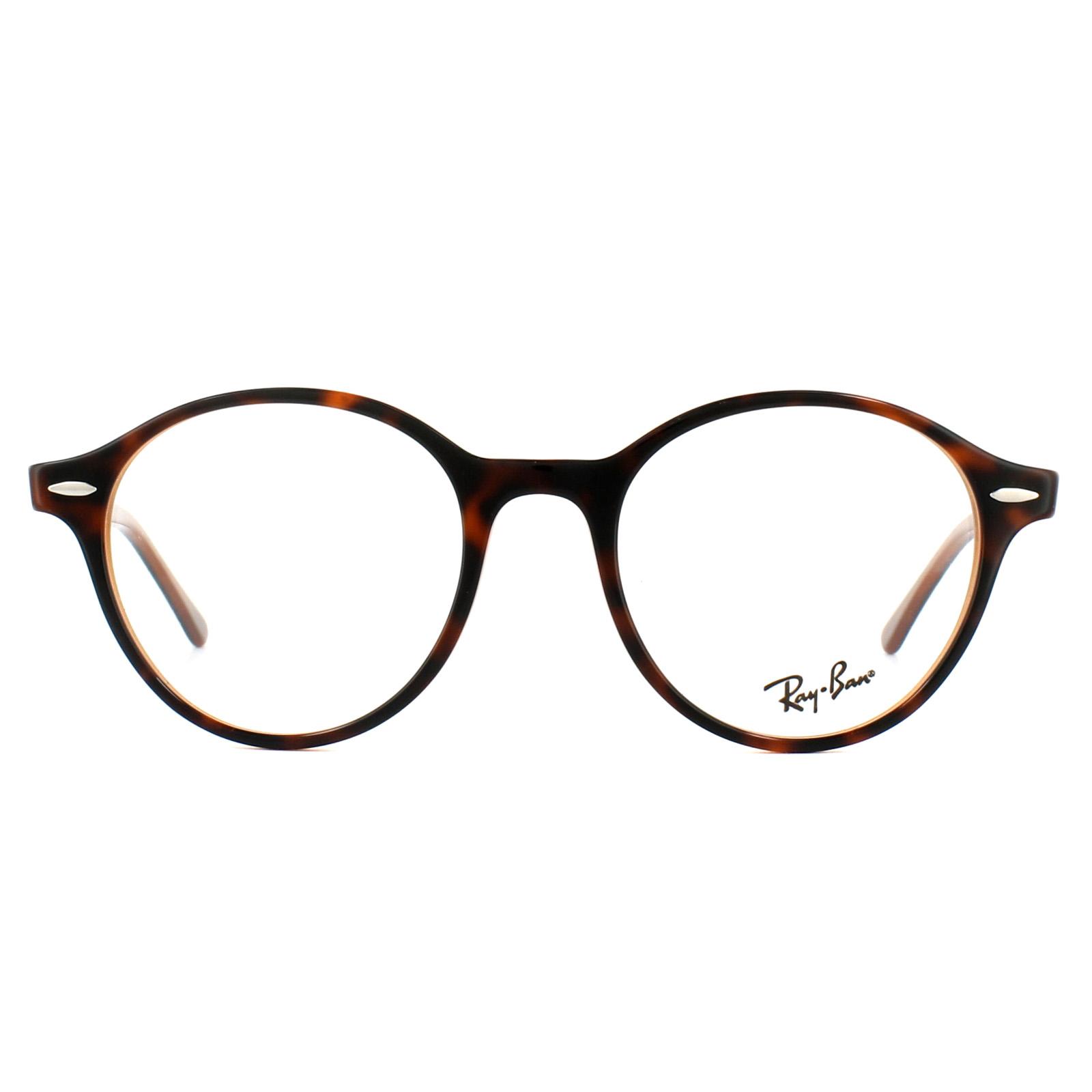 d7de44b757 Sentinel Ray-Ban Glasses Frames 7118 Dean 5713 Top Havana on Light Brown  50mm Mens Womens