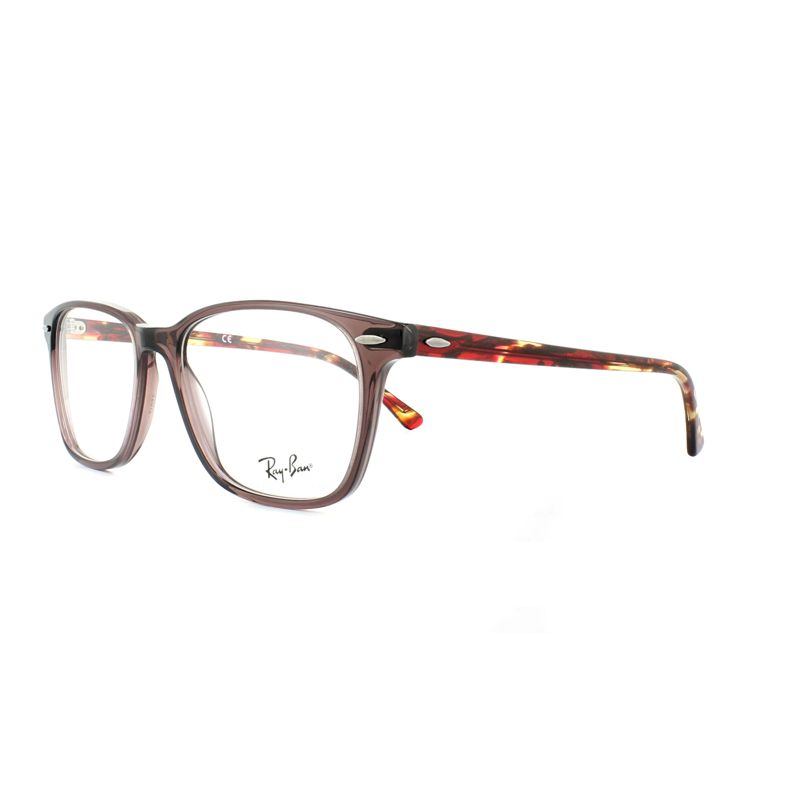 d32cd67110e Details about Ray-Ban Glasses Frames 7119 8023 Brown Red Havana 55mm Mens  Womens