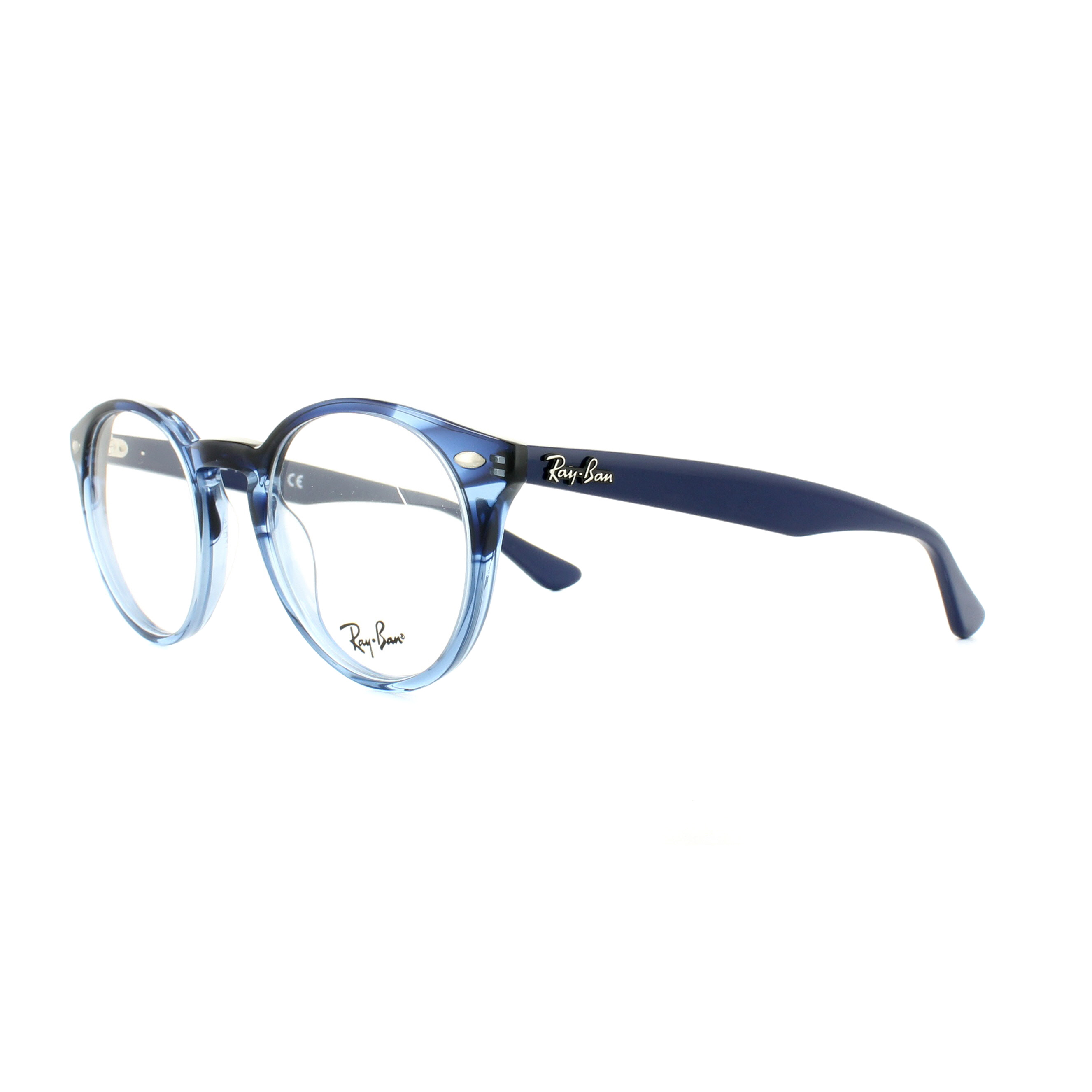 9465137edf Details about Ray-Ban Glasses Frames 2180V 5572 Transparent Striped Blue  47mm Mens Womens