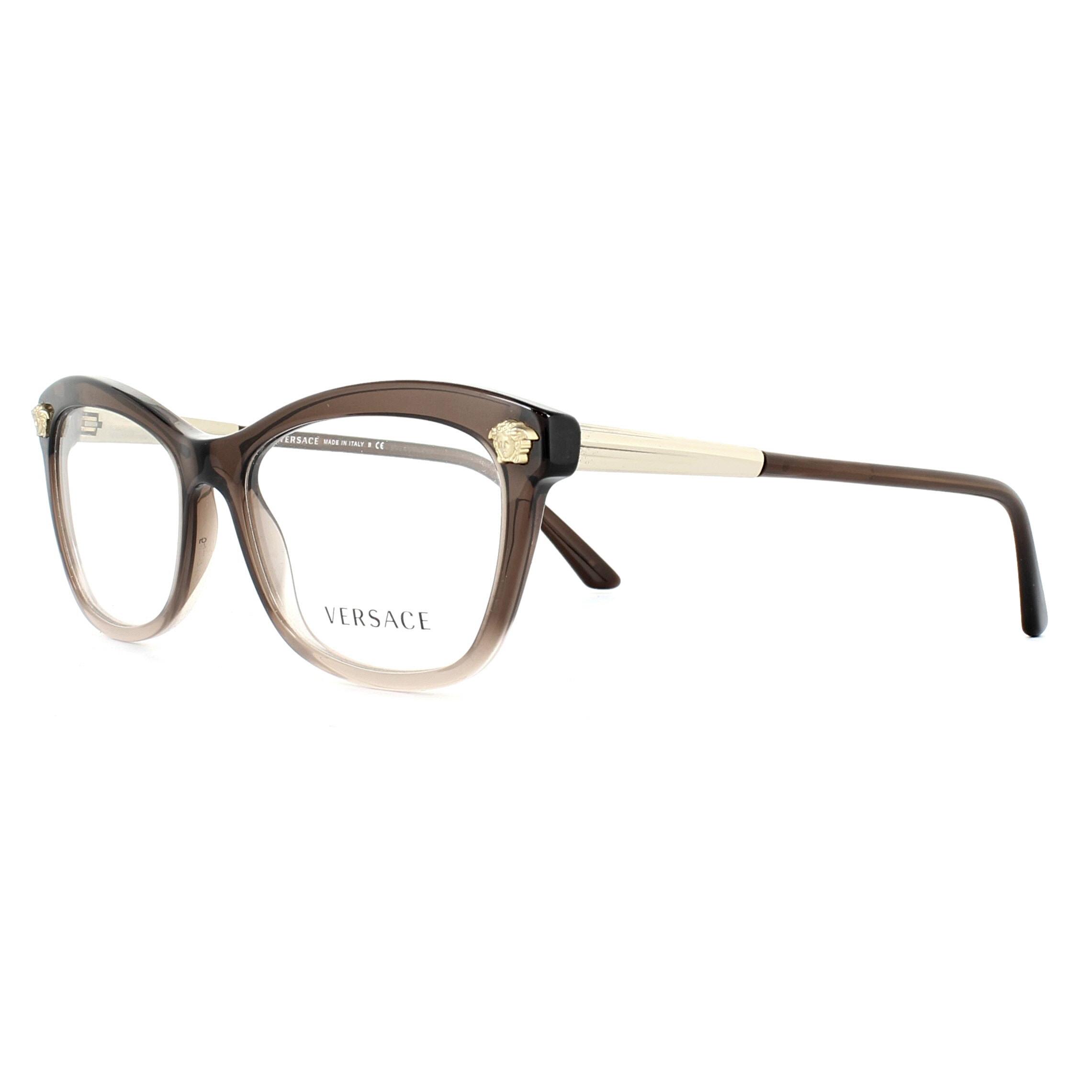 4e9feaff9ddd Sentinel Versace Glasses Frames 3224 5165 Brown Lilac Transparent 54mm  Womens