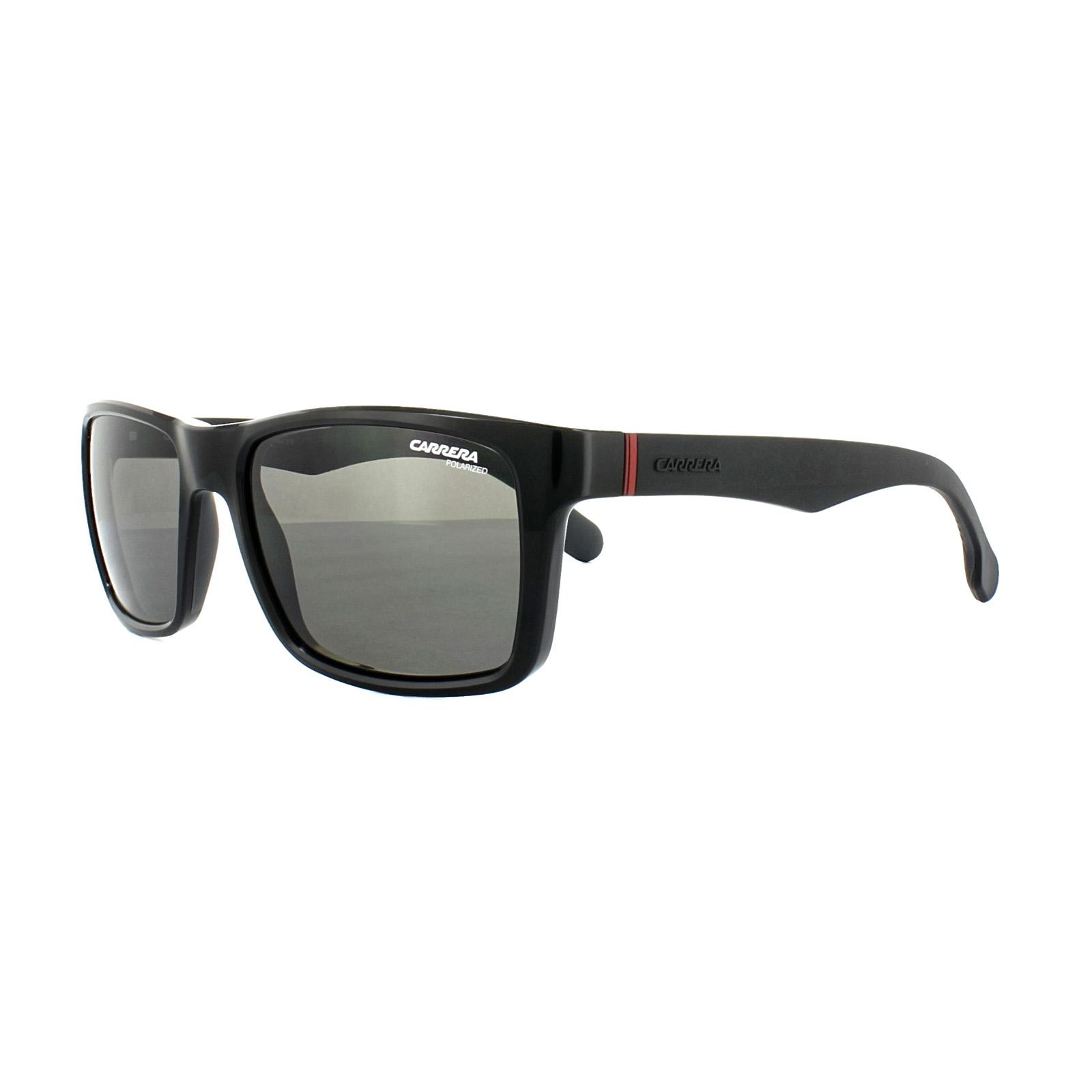 f7e87cd94f41 Sentinel Carrera Sunglasses 8024/L/S 807 M9 Black Grey Polarized 57mm