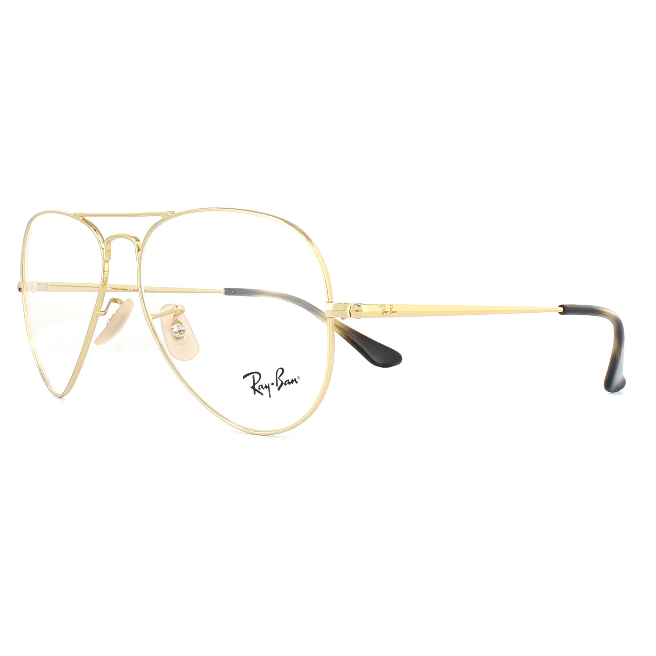 Ray-Ban Glasses Frames 6489 Aviator 2500 Gold 55mm 8053672741841 | eBay