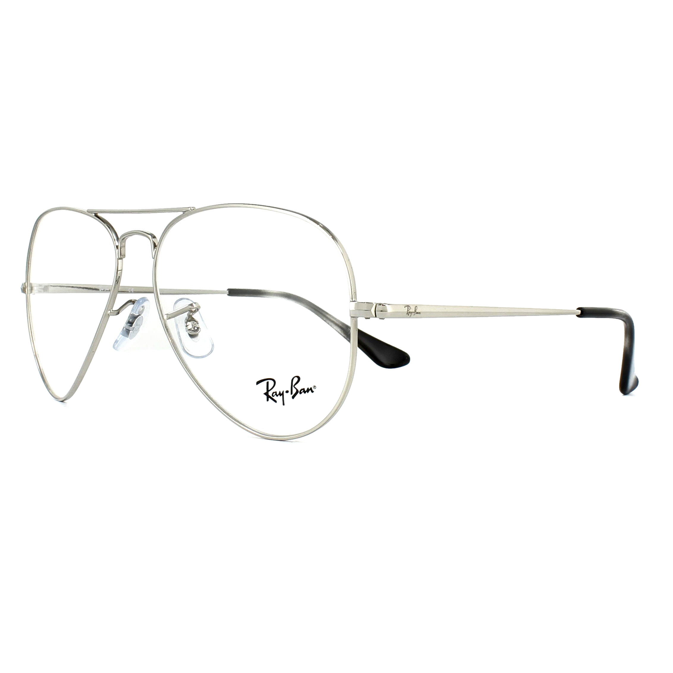 942d2ff7b11 Ray-Ban Glasses Frames 6489 Aviator 2501 Silver 55mm 8053672741865 ...