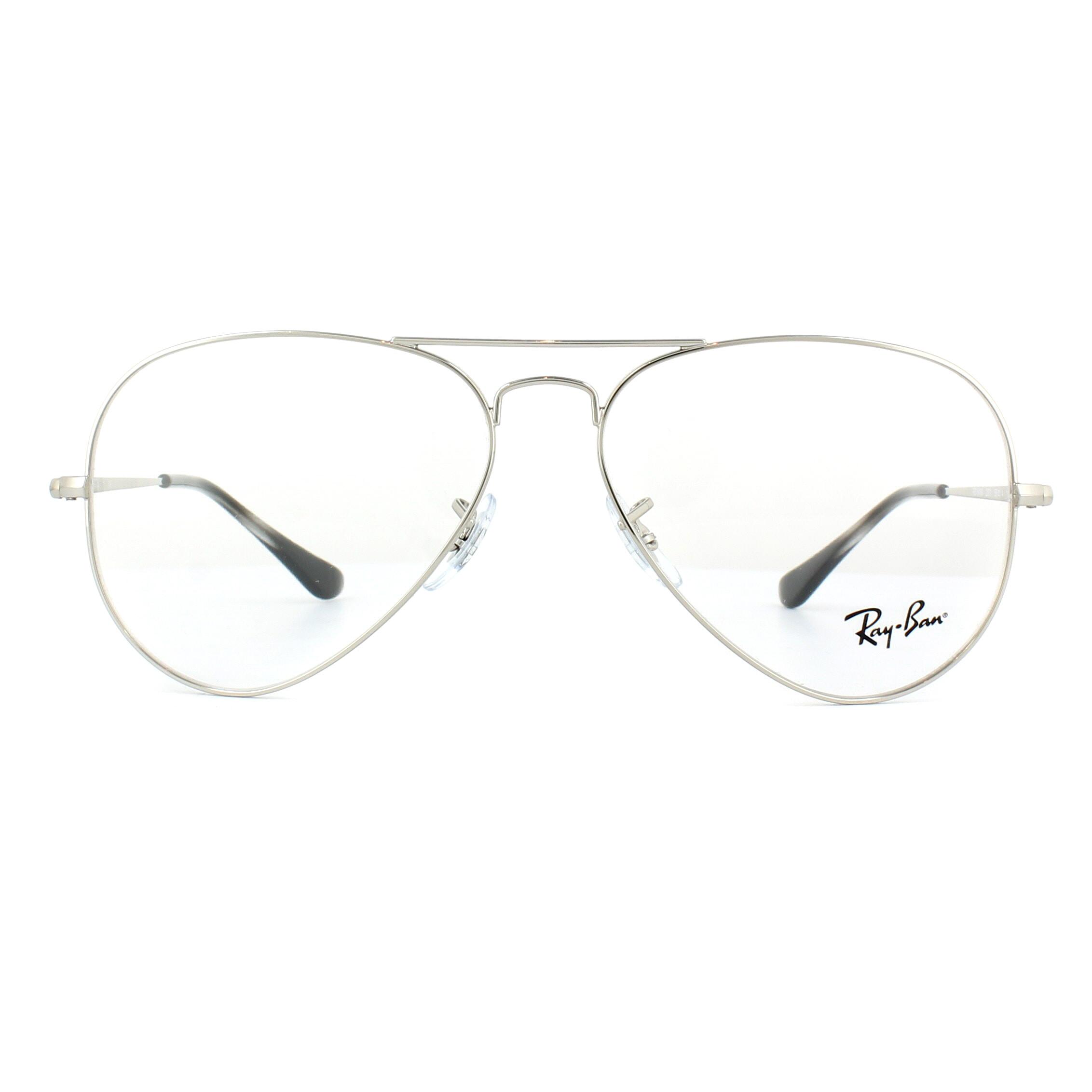 a01fe4e98f9af Sentinel Ray-Ban Glasses Frames 6489 Aviator 2501 Silver 55mm