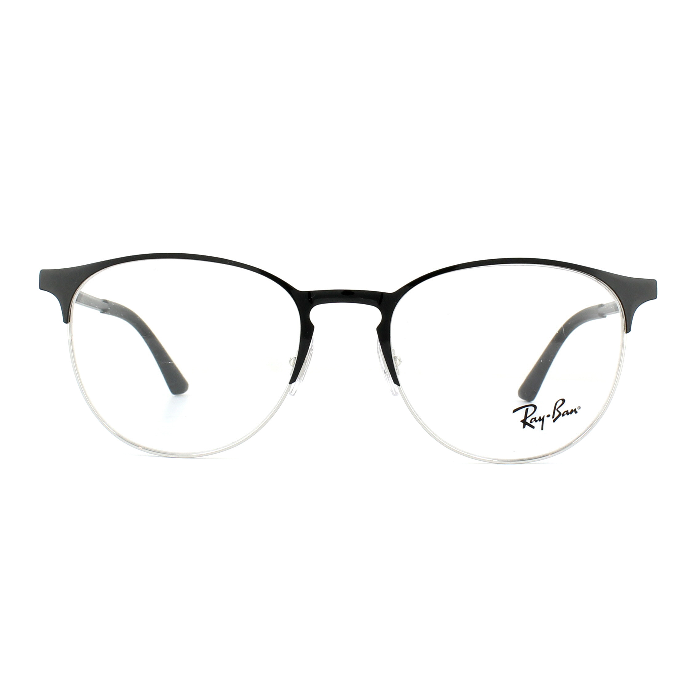 764a17e868 Sentinel Ray-Ban Glasses Frames 6375 2861 Silver on Top Black 51mm