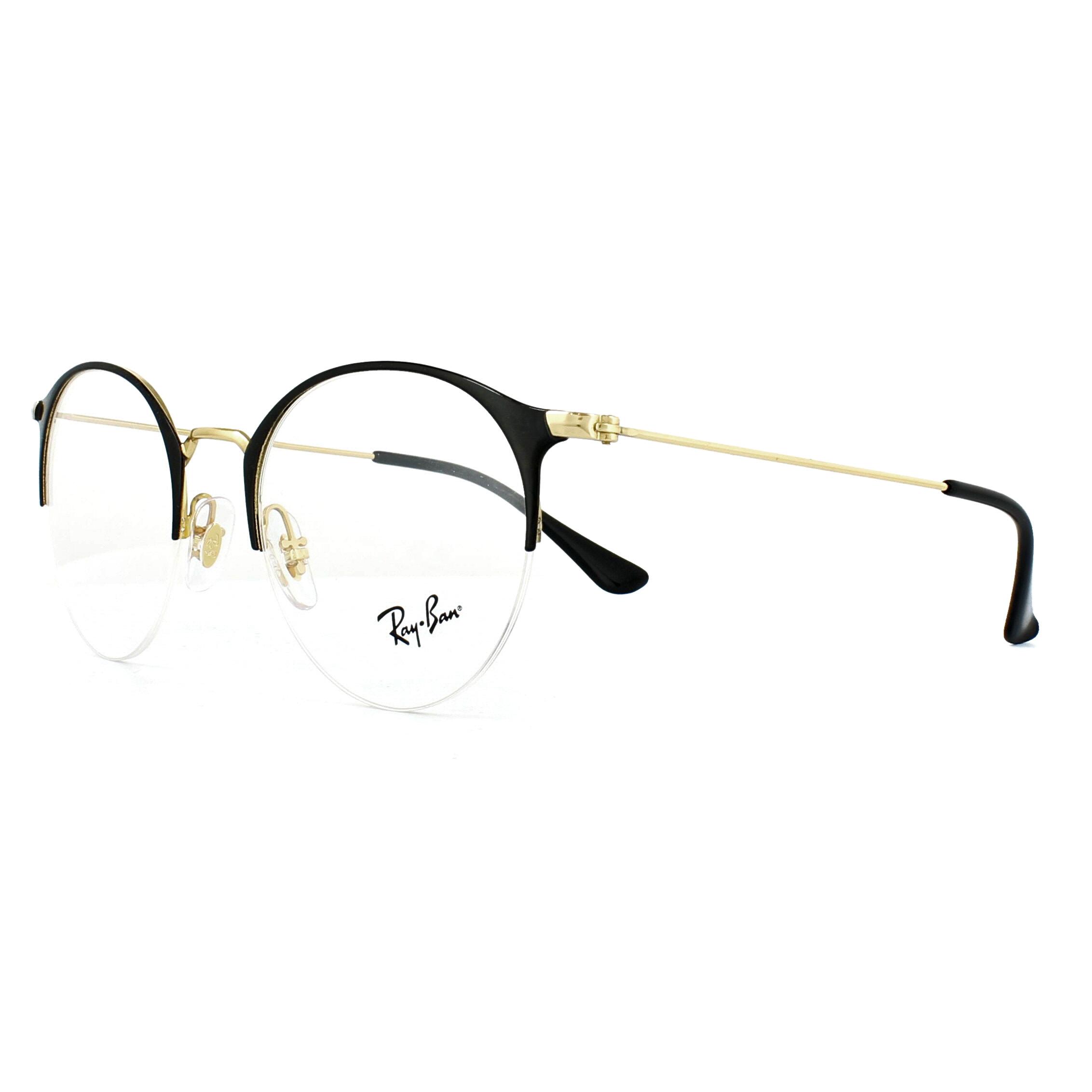 64d9910e2af Sentinel Ray-Ban Glasses Frames 3578V 2890 Gold Top Shiny Black 50mm