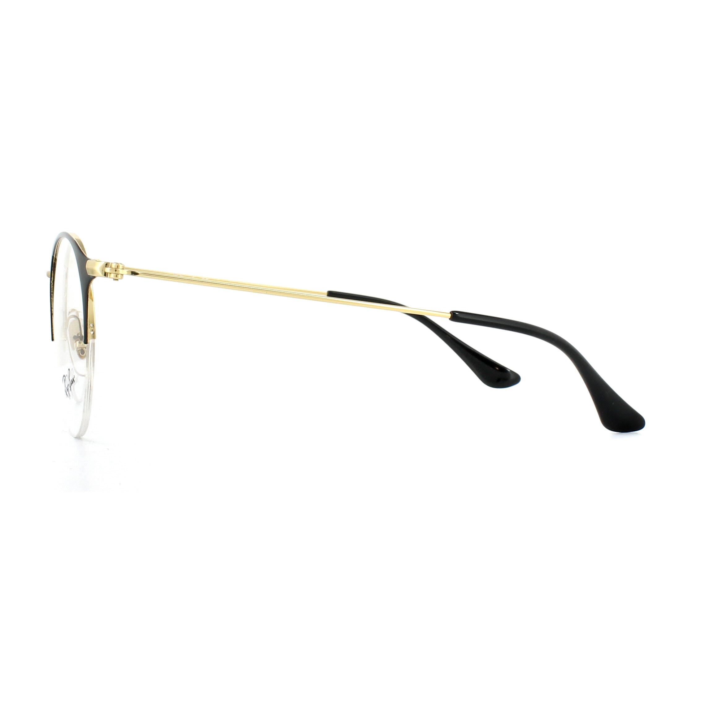 f3ec067bb82 Sentinel Ray-Ban Glasses Frames 3578V 2890 Gold Top Shiny Black 50mm