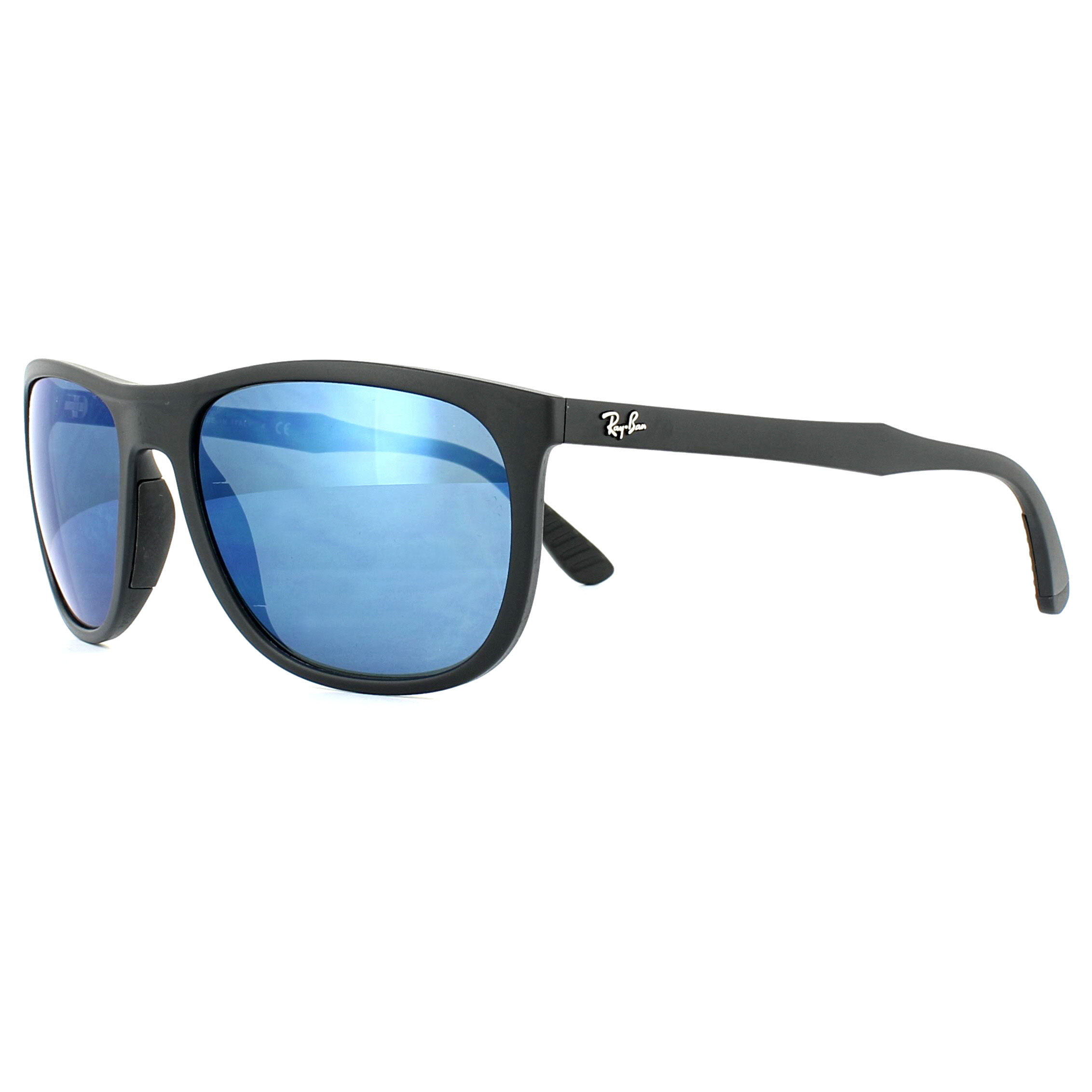 57a0184e47 Sentinel Ray-Ban Sunglasses RB4291 601S55 Black Blue Mirror