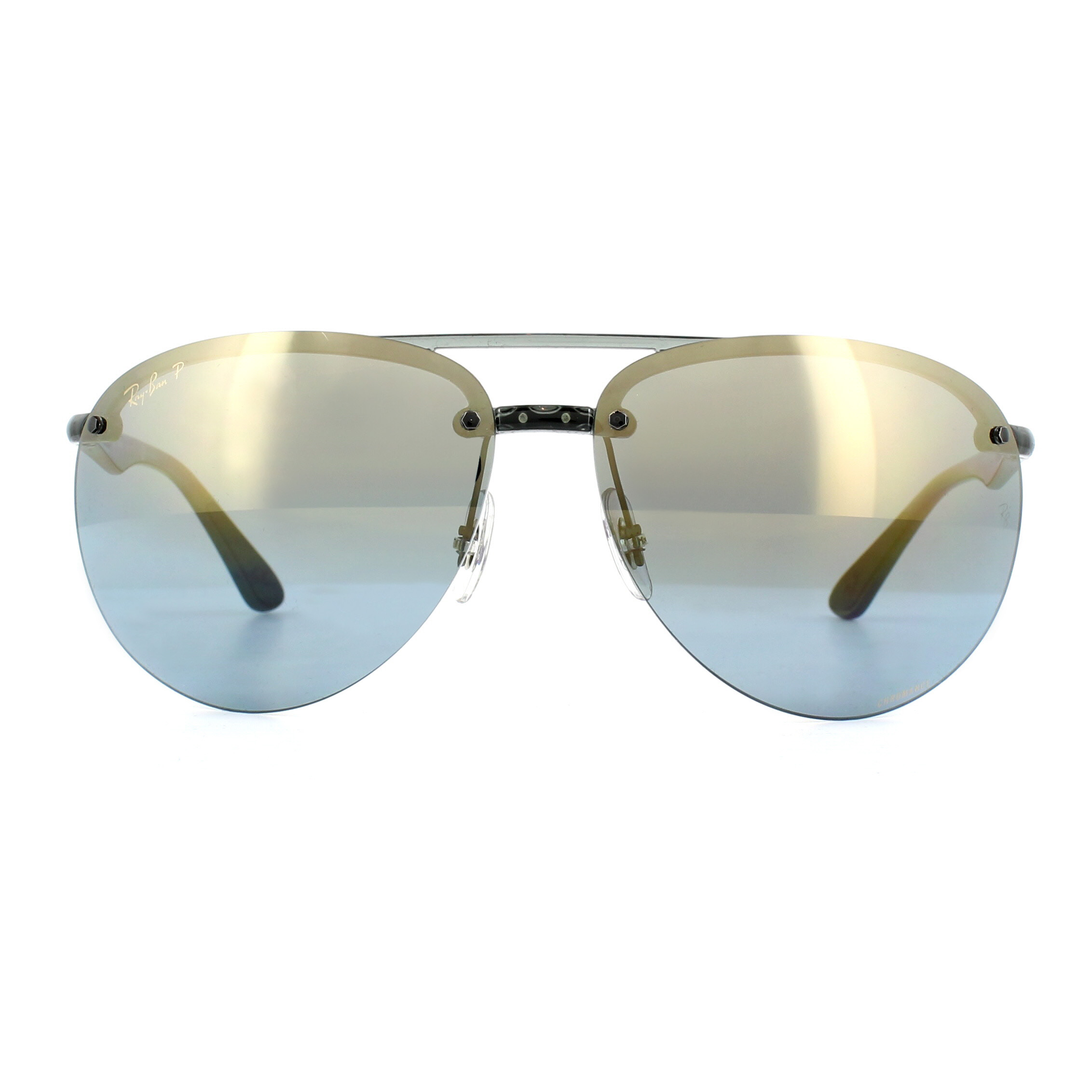 81259db00d Sentinel Ray-Ban Sunglasses RB4293CH 876 J0 Grey Blue Gradient Mirror  Polarized Chromance
