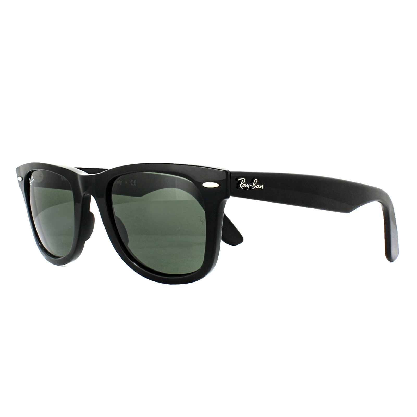 cee27744b3989 Sentinel Ray-Ban Sunglasses Wayfarer Ease RB4340 601 Black Green G-15