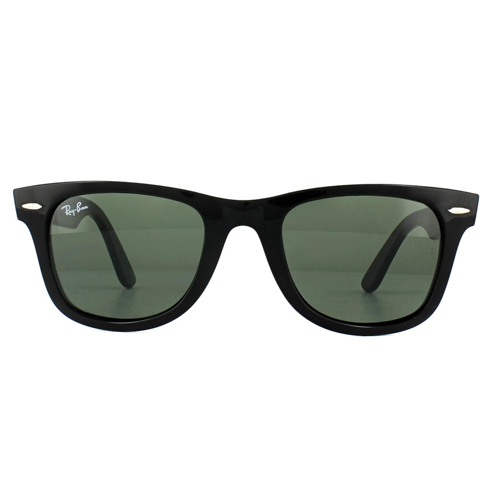 5af83c0623944 Sentinel Ray-Ban Sunglasses Wayfarer Ease RB4340 601 Black Green G-15