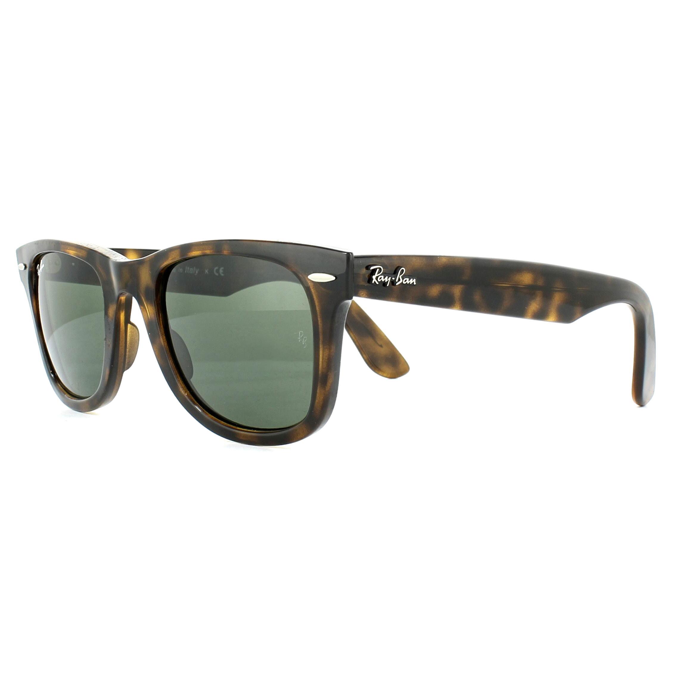 d7d237c29c Sentinel Ray-Ban Sunglasses Wayfarer Ease RB4340 710 Tortoise Green G-15