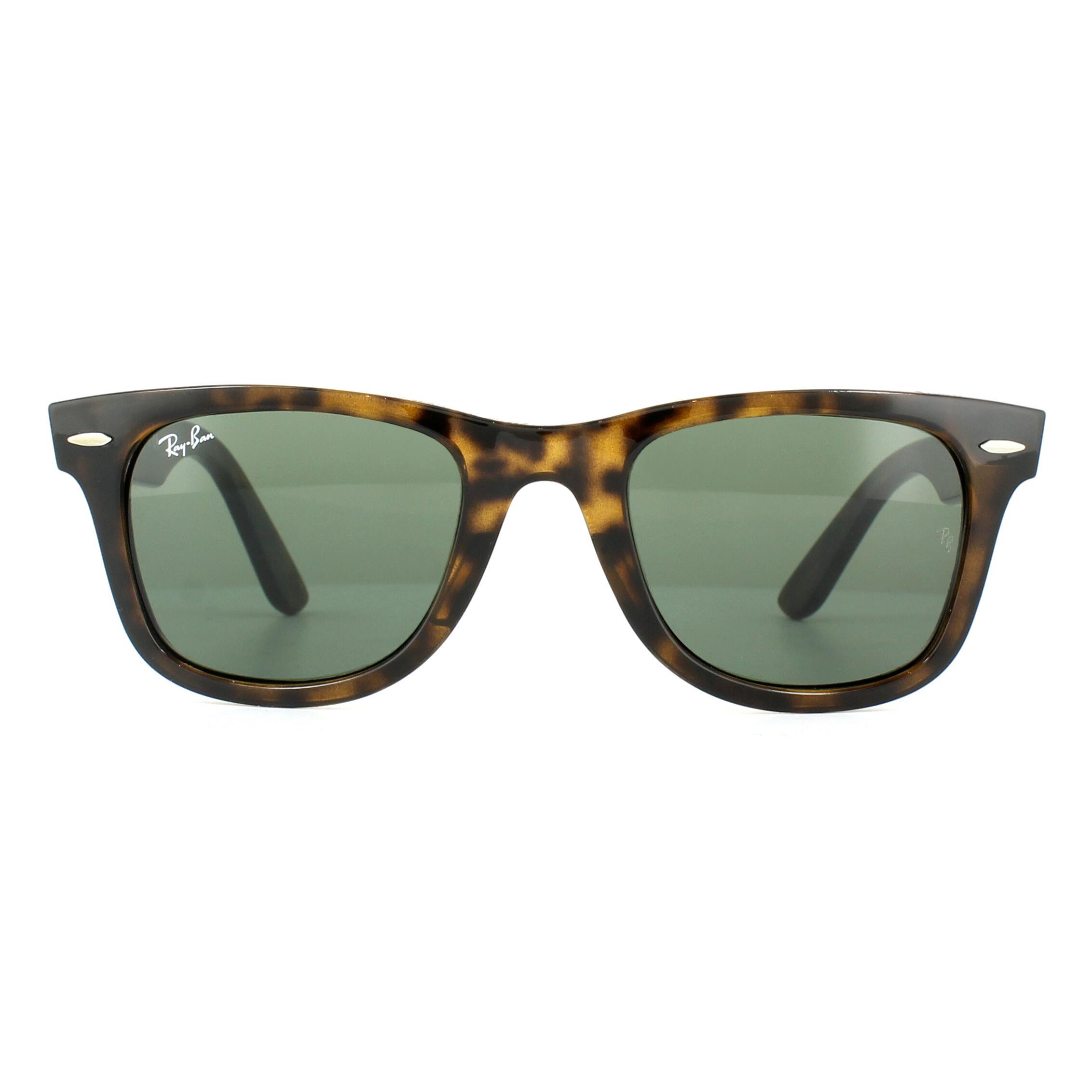 467eecc70f CENTINELA Ray-Ban gafas de sol Wayfarer facilidad RB4340 710 tortuga verde  G-15
