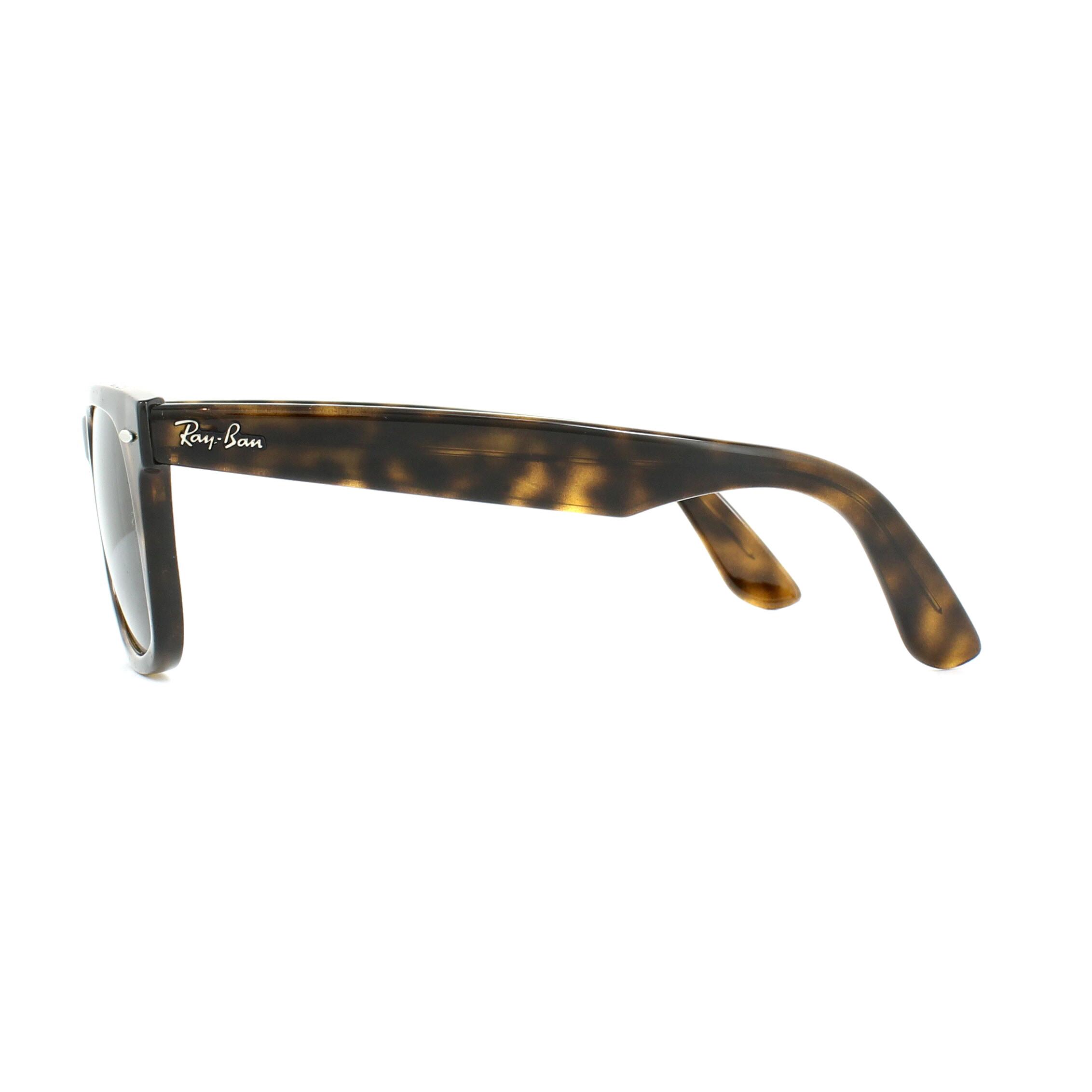 9fff50f658244 SENTINEL Ray-Ban occhiali da sole Wayfarer facilità RB4340 710 tartaruga  verde G-15