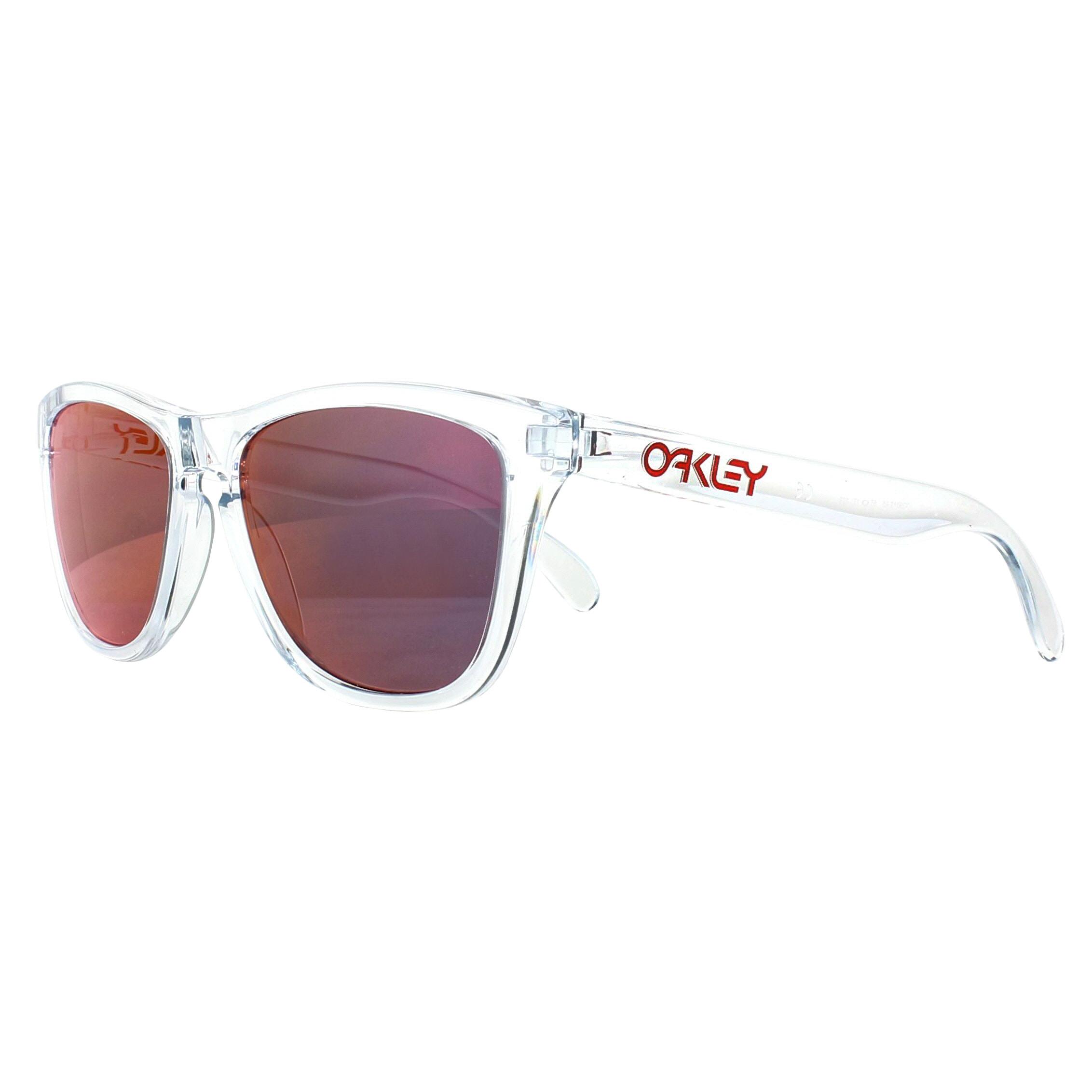ff5dacd127 Sentinel Oakley Sunglasses Frogskins OO9013-A5 Polished Clear Torch Iridium