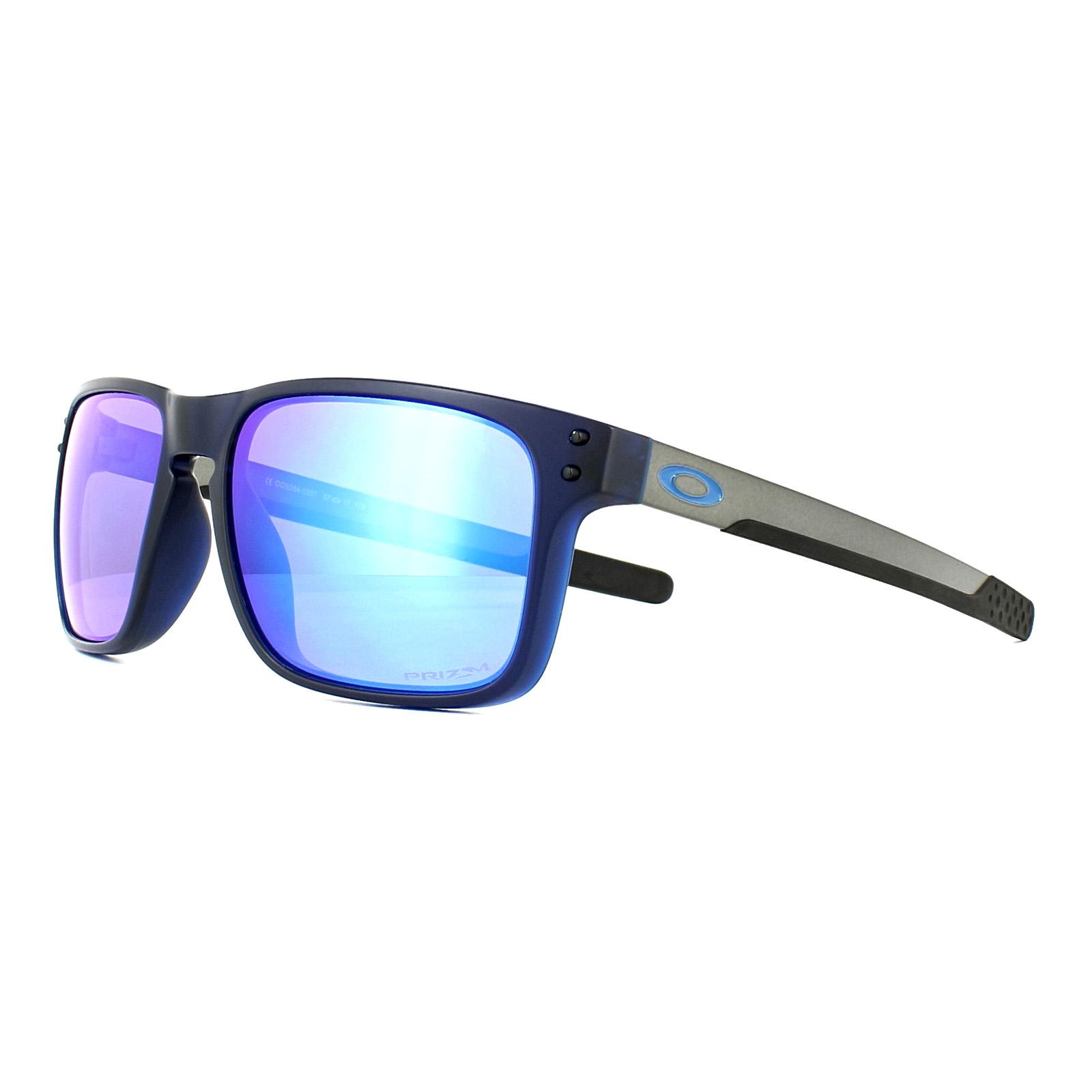 fd77a9c6755 Sentinel Oakley Sunglasses Holbrook Mix OO9384-03 Matt Translucent Blue  Prizm Sapphire