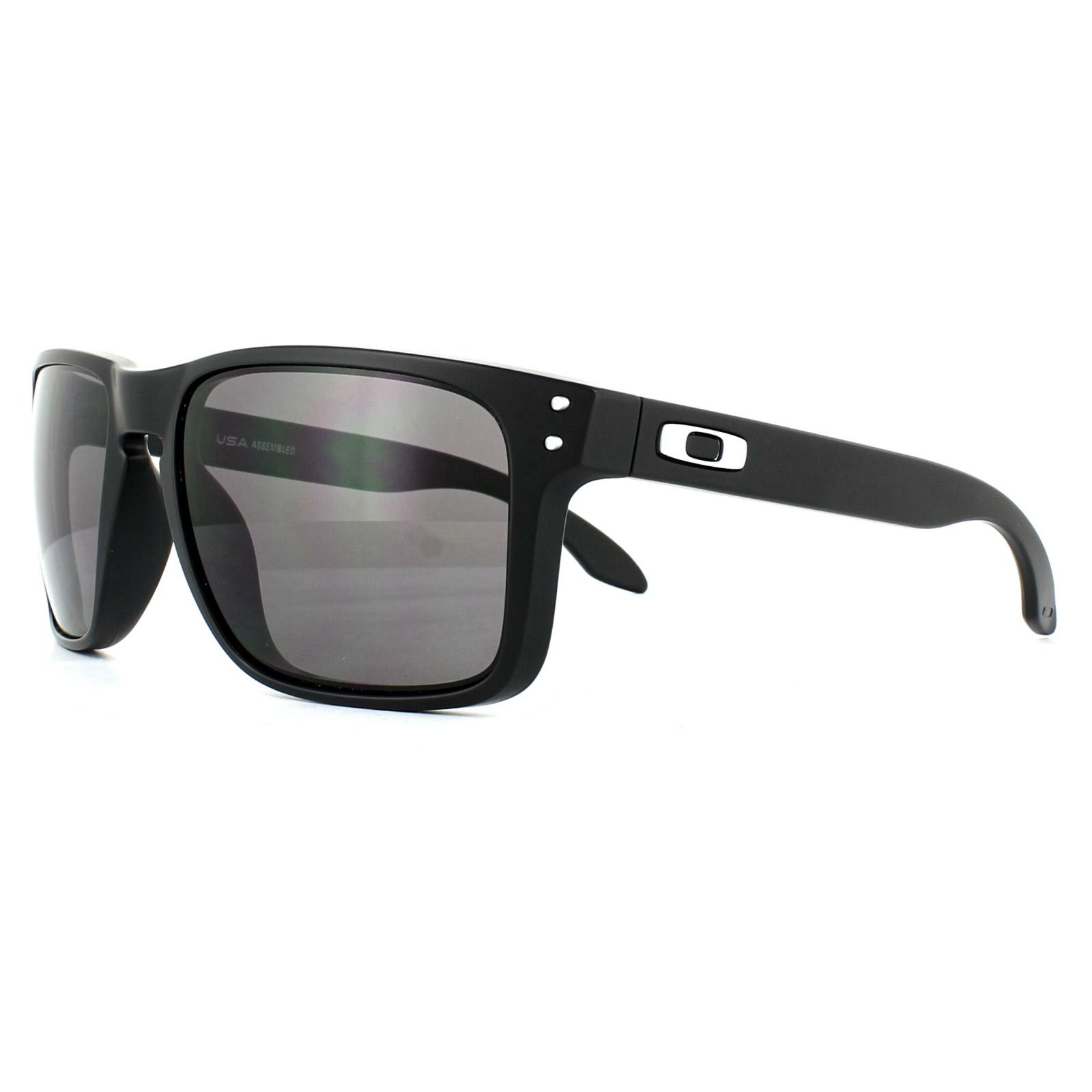 a2ecf919d9 Sentinel Oakley Sunglasses Holbrook XL OO9417-01 Matt Black Warm Grey