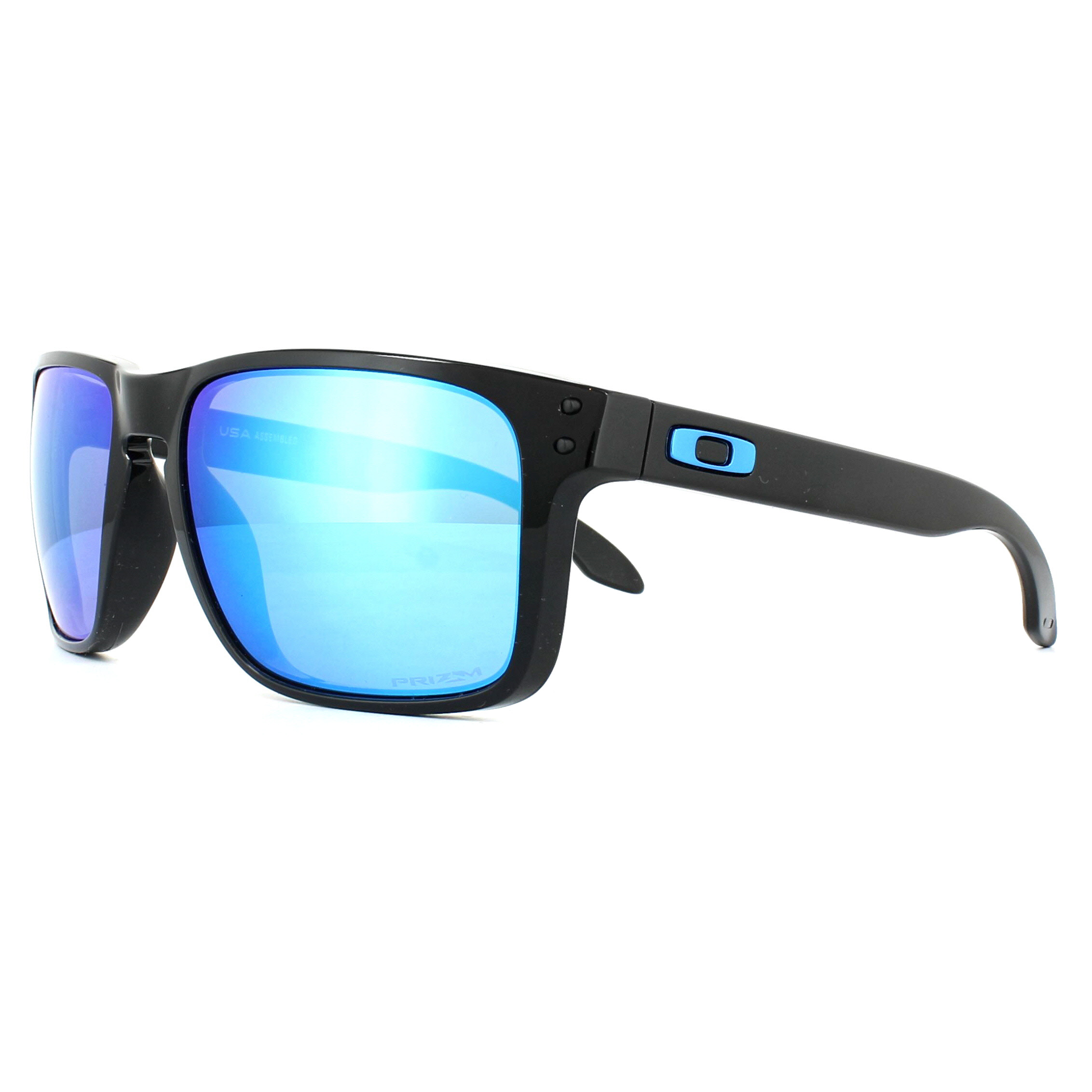 4071761845cc Sentinel Oakley Sunglasses Holbrook XL OO9417-03 Polished Black Prizm  Sapphire