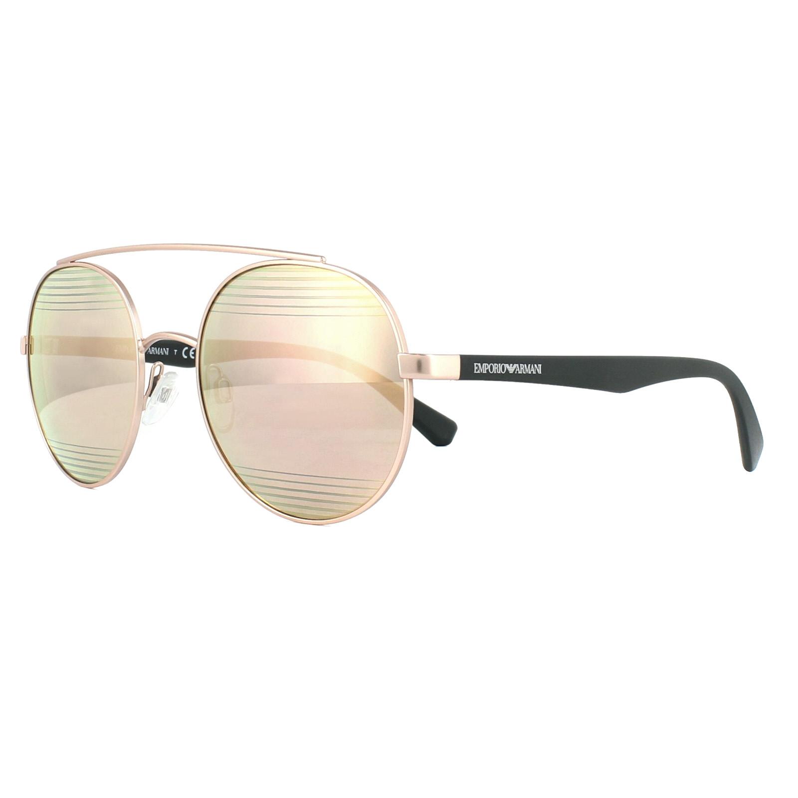 aa105c3c852 Sentinel Emporio Armani Sunglasses 2051 31674Z Matt Rose Gold Rose Gold  Mirror