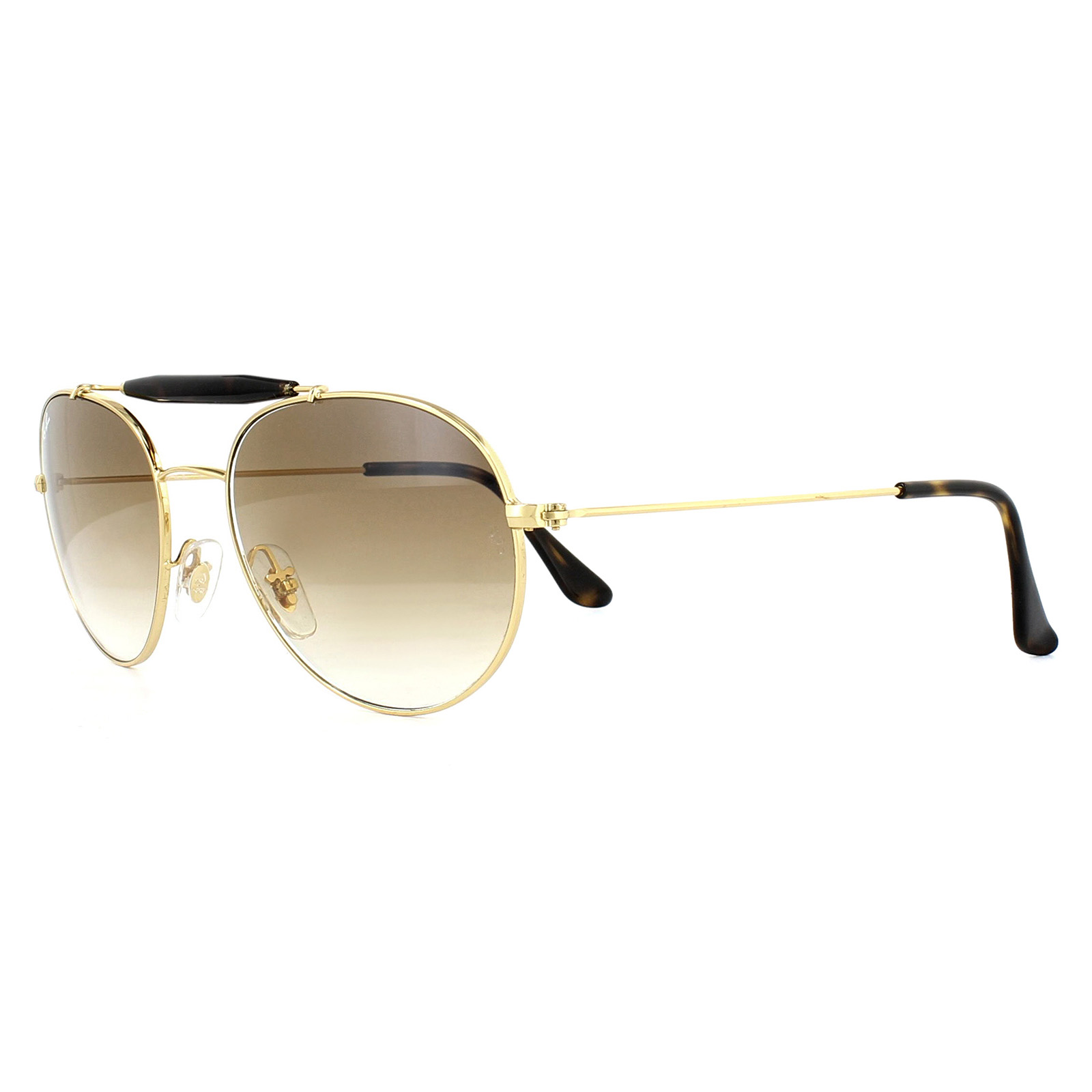 1d38c2e5350 Sentinel Ray-Ban Sunglasses RB3540 001 51 Gold Light Brown Gradient