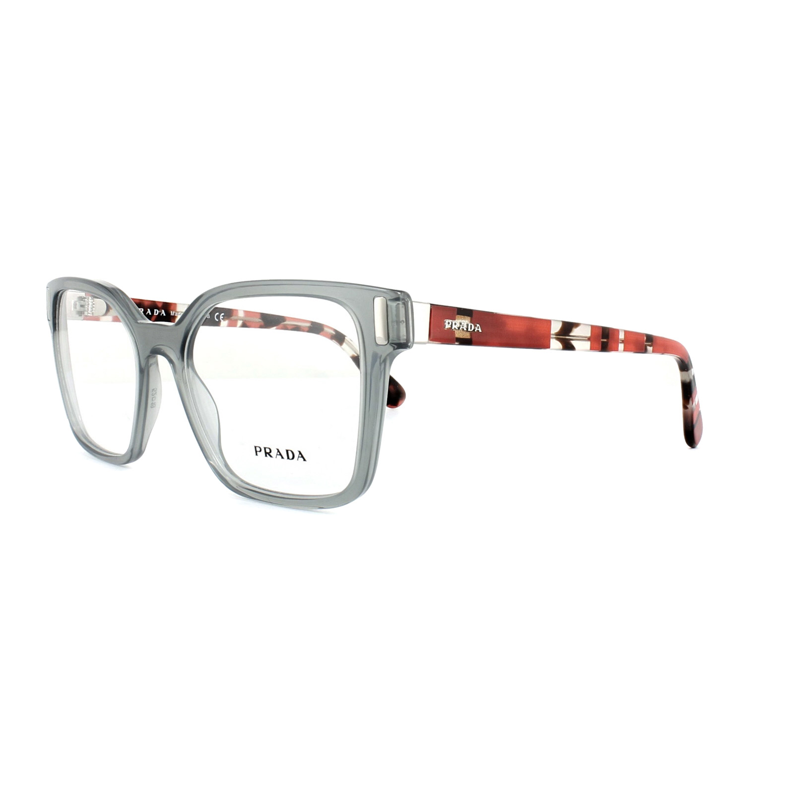 552272a1146 Sentinel Prada Glasses Frames PR 05TV TKY1O1 Transparent Grey Womens 50mm