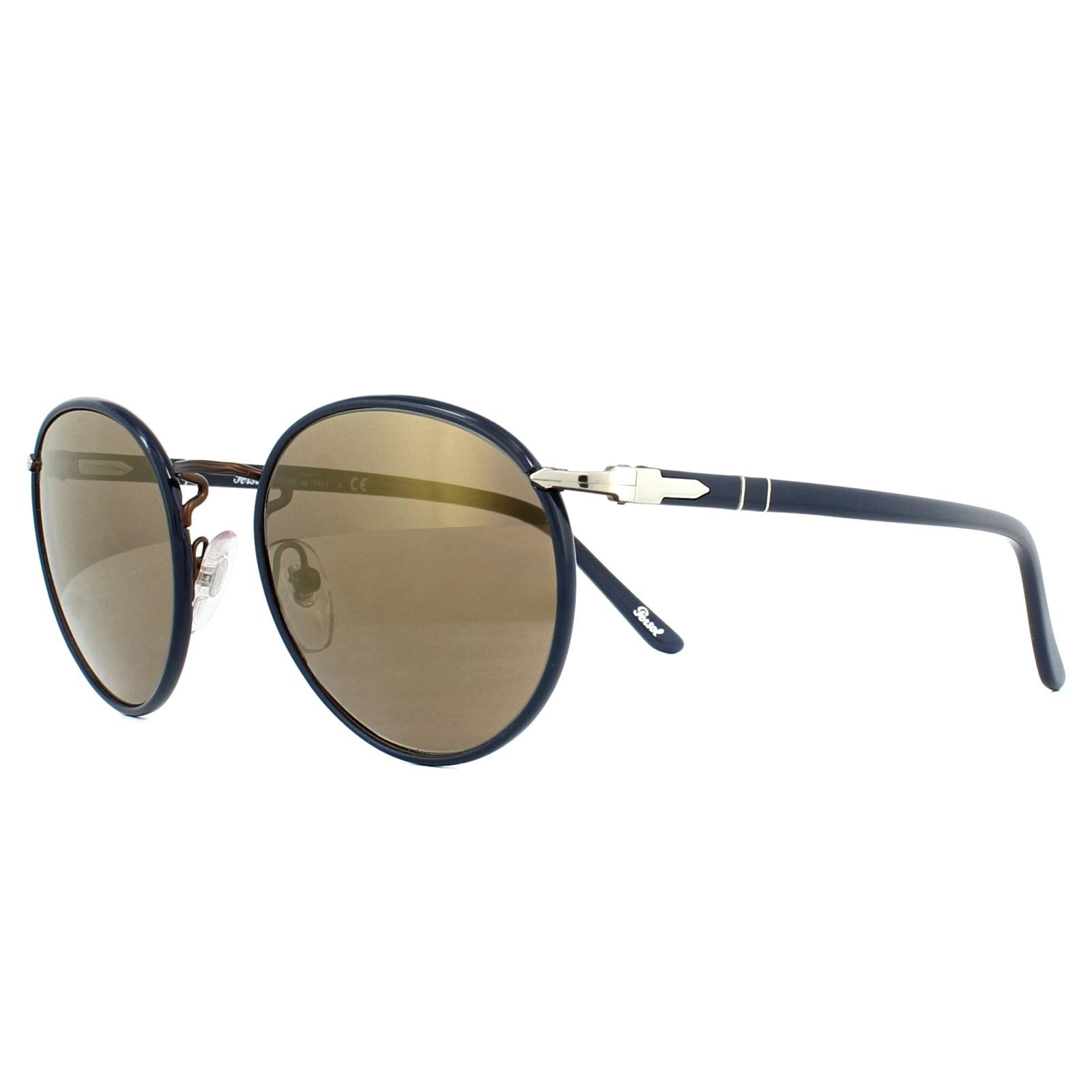 cb33cc2198b08 Sentinel Persol Sunglasses 2422SJ 1062O3 Brown Brown Gold Mirror