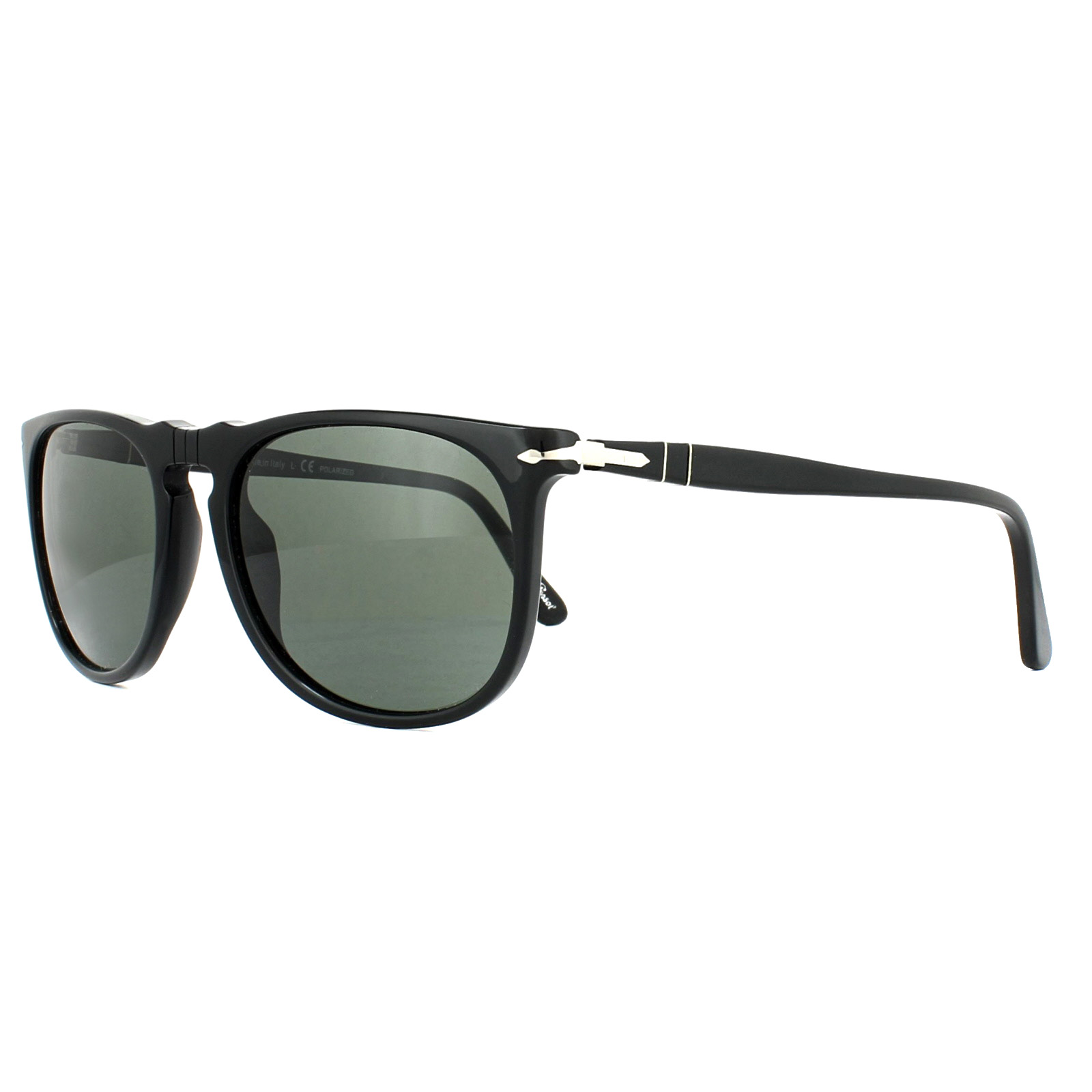 515360456787e Persol Sunglasses 3113S 95 58 Black Green Polarized 8053672419887