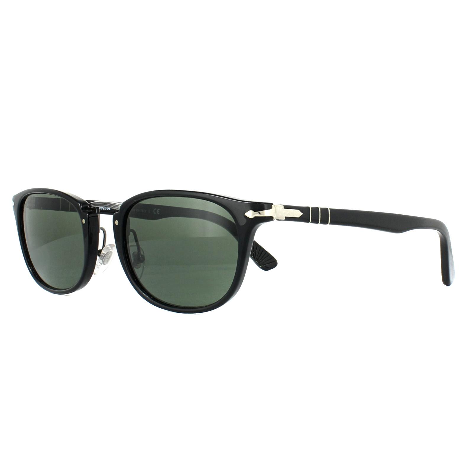 55532758709 Persol Sunglasses 3127S 95 31 Black Green 8053672472660