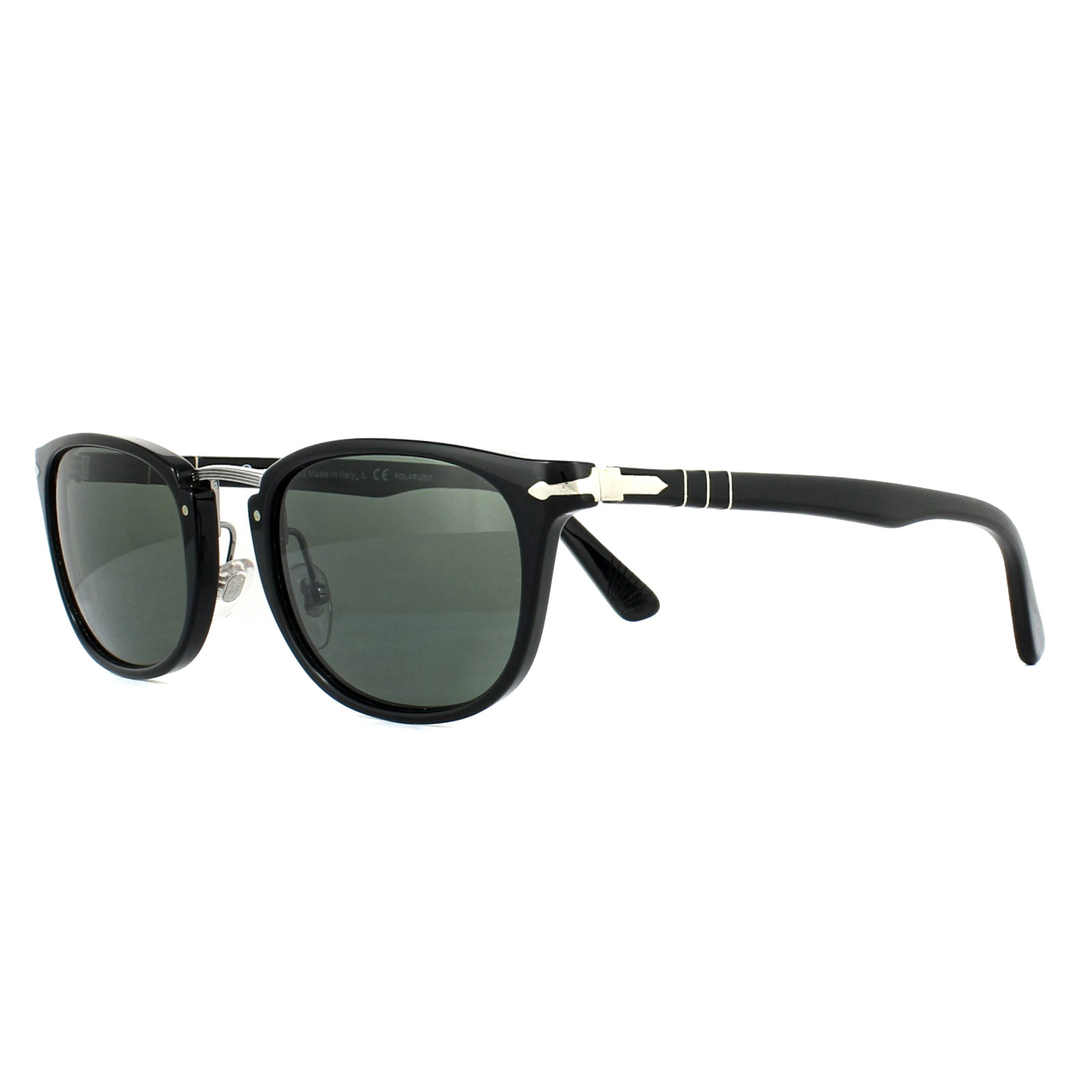 c86d56fd8ea14 Persol Sunglasses 3127S 95 58 Black Green Polarized 8053672472752