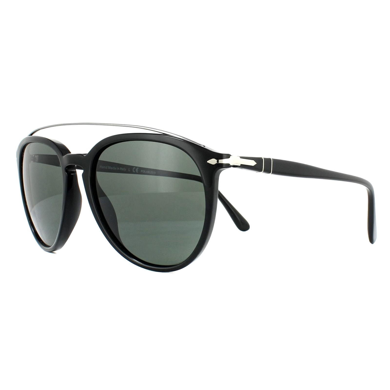 2a99575494 Persol Sunglasses 3159S 901458 Black Green Polarized 8053672665697 ...