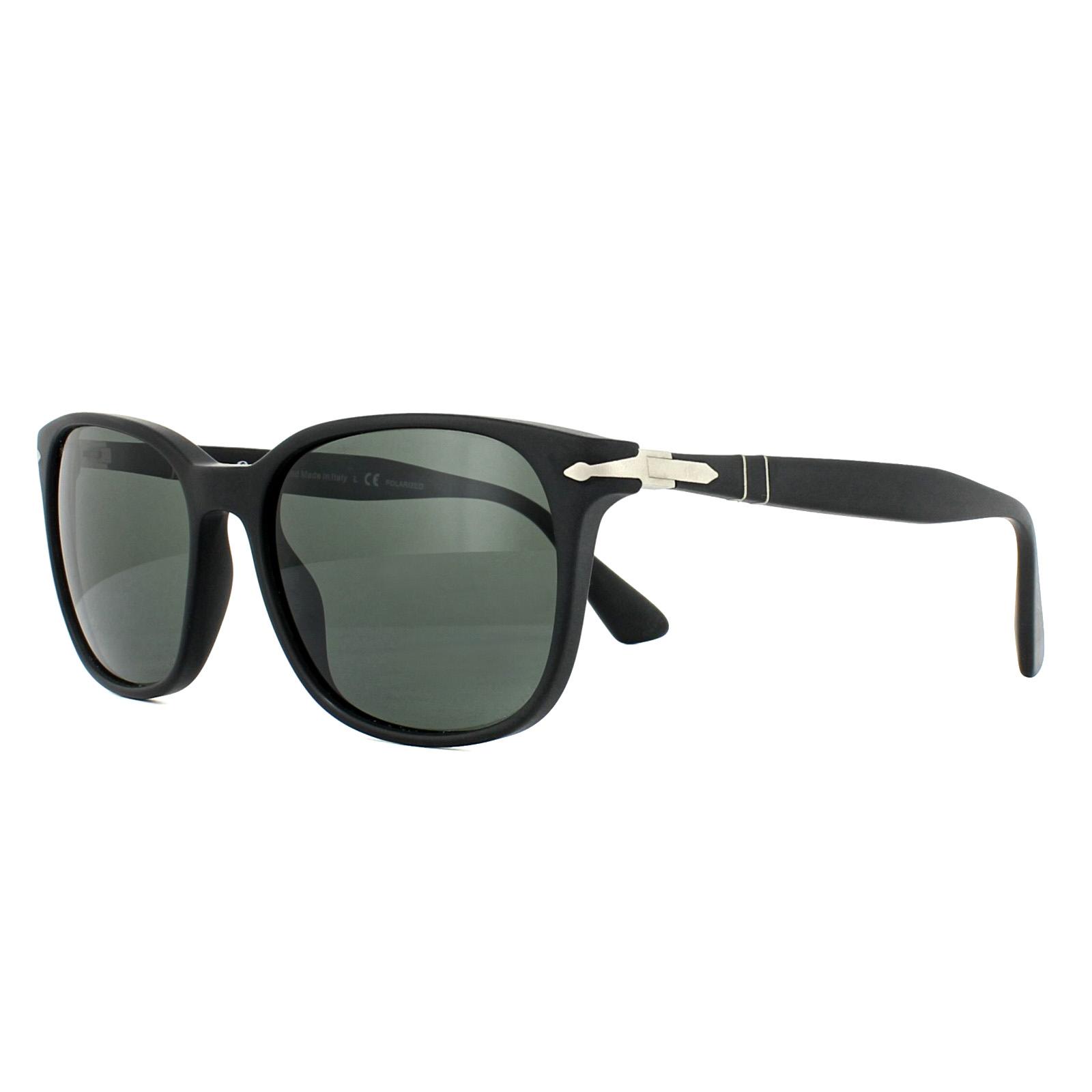 Persol Sunglasses 3164S 900058 Black Green Polarized 8053672665789 ... f883c259c2