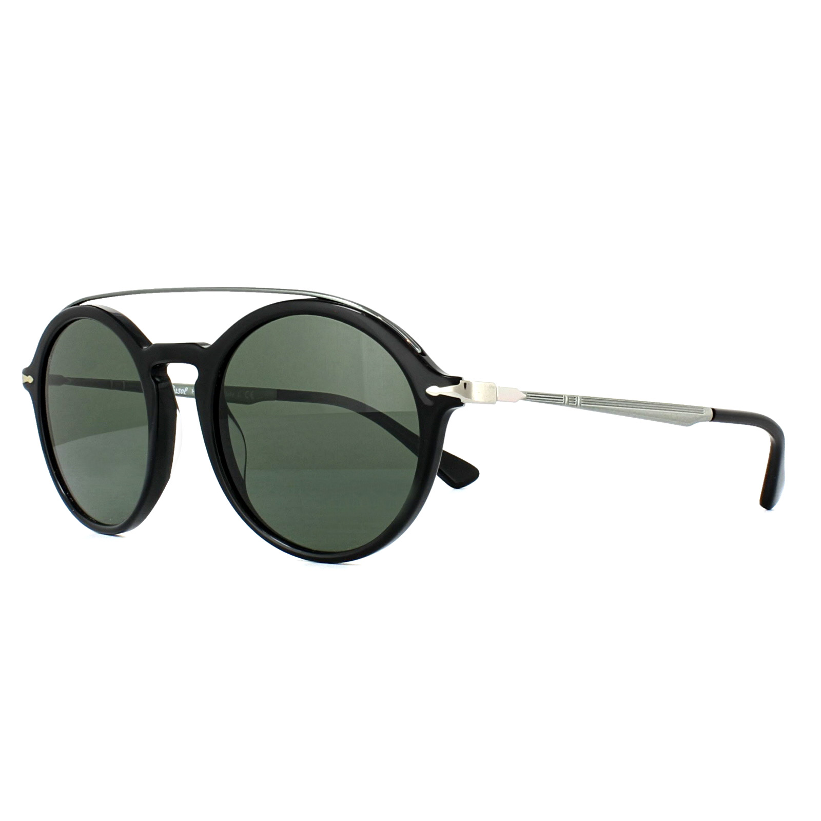 1b7e6b1170e2 Persol Sunglasses 3172S 95/31 Black Green 8053672764192 | eBay
