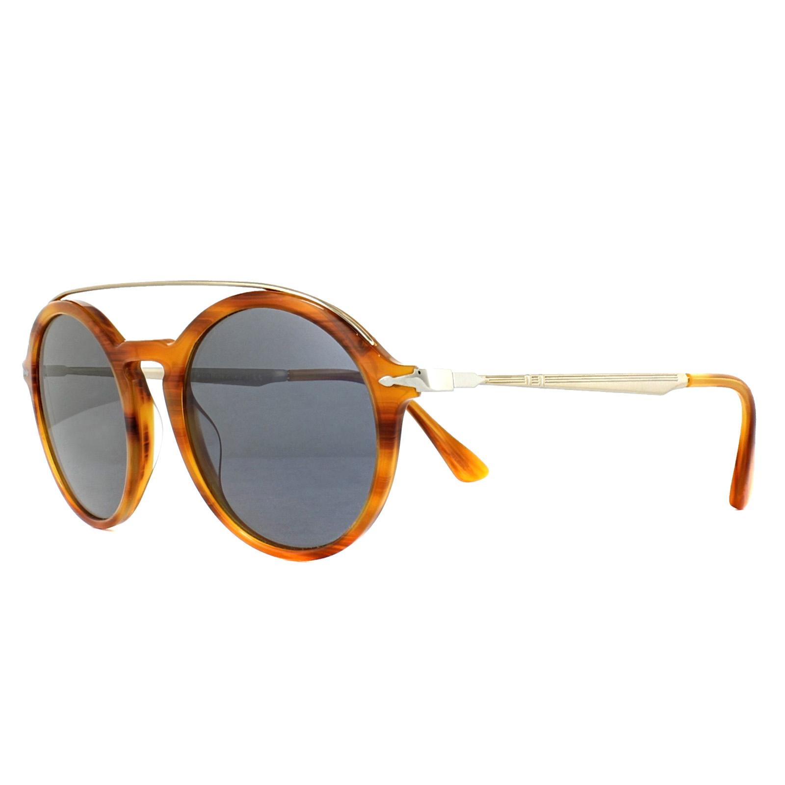 5549f87f31 Persol Sunglasses 3172S 960 56 Striped Brown Blue 8053672764215
