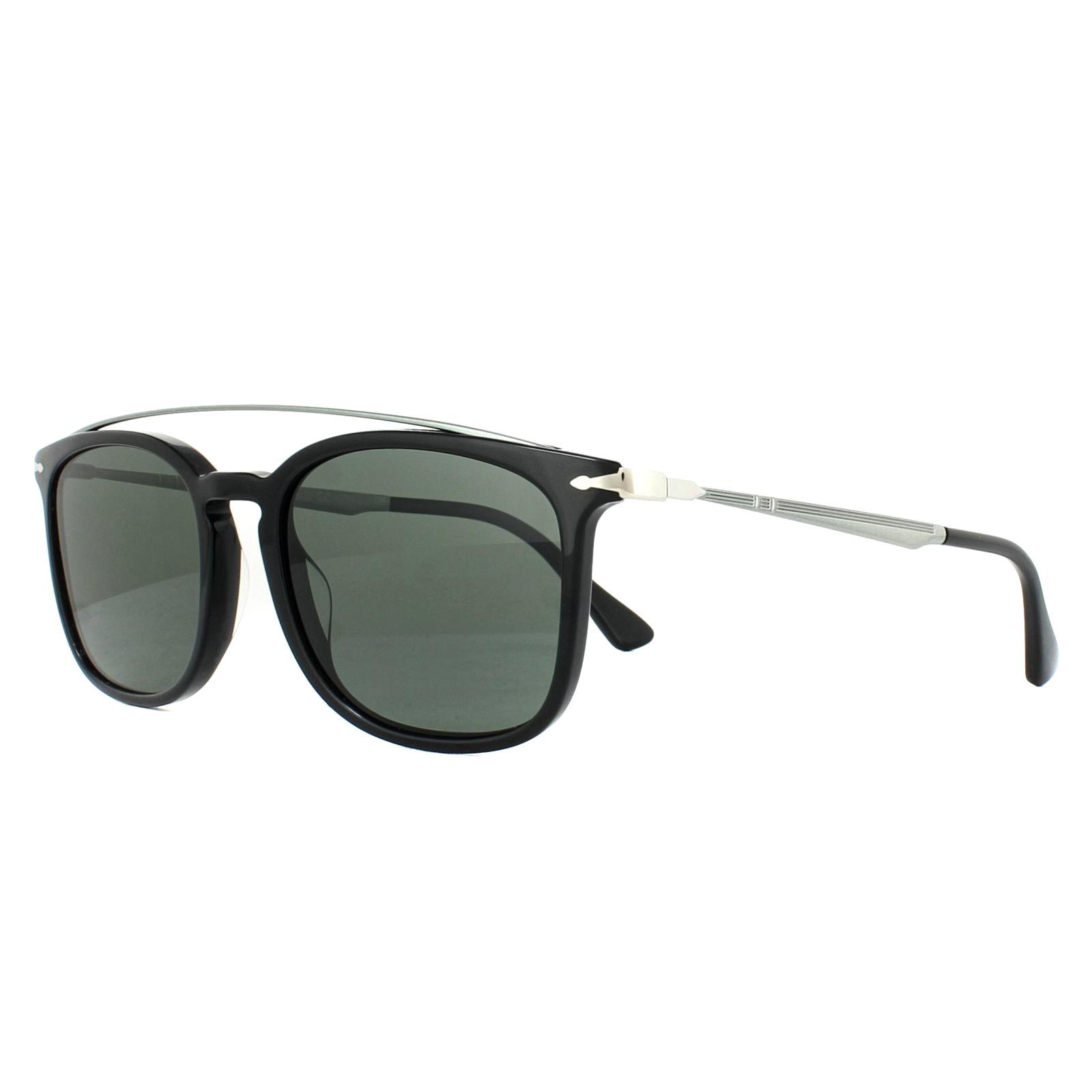 94f89d043c Persol Sunglasses 3173S 95 58 Black Green Polarized 8053672764406