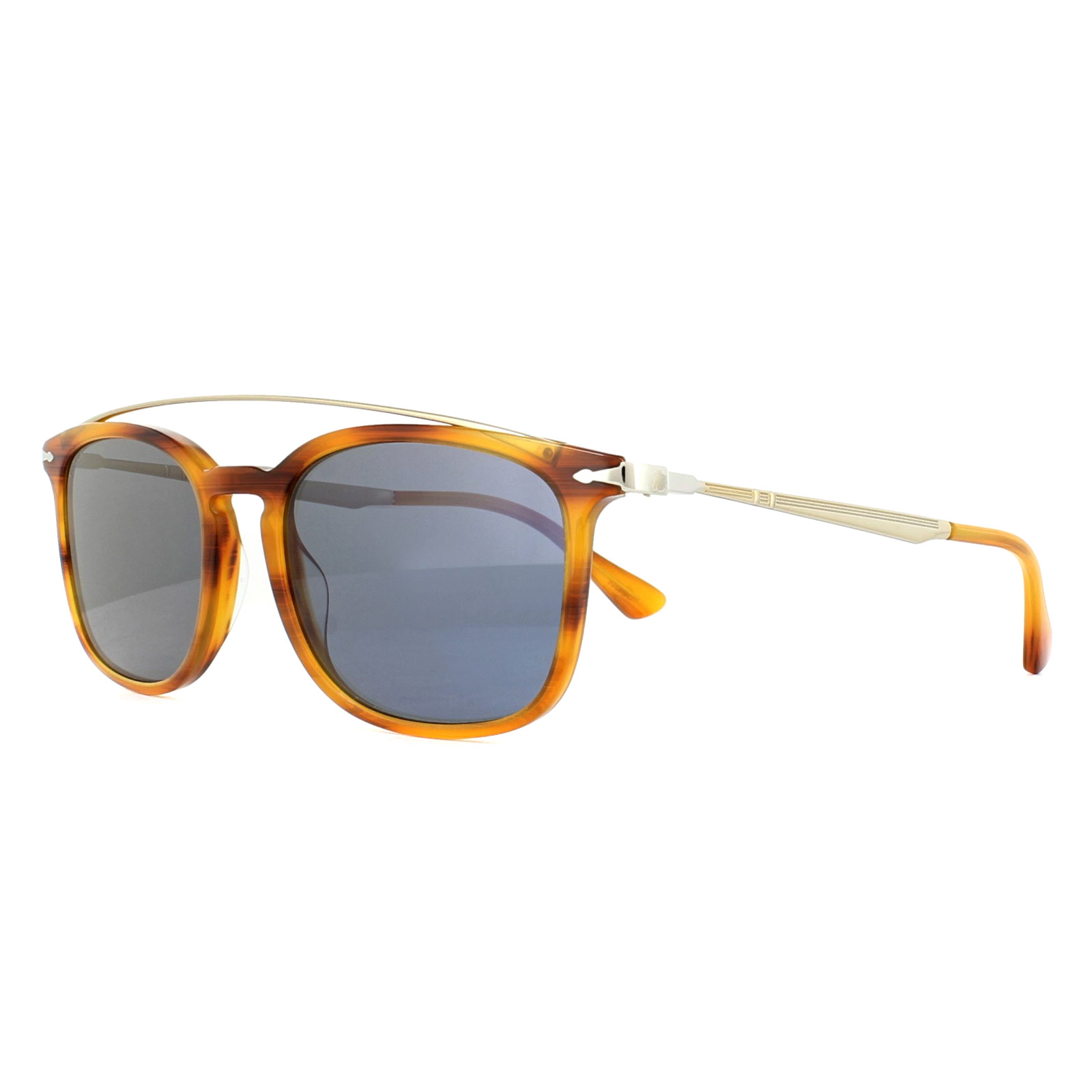1aa233345a Persol Sunglasses 3173S 960 56 Striped Brown Blue 8053672764383