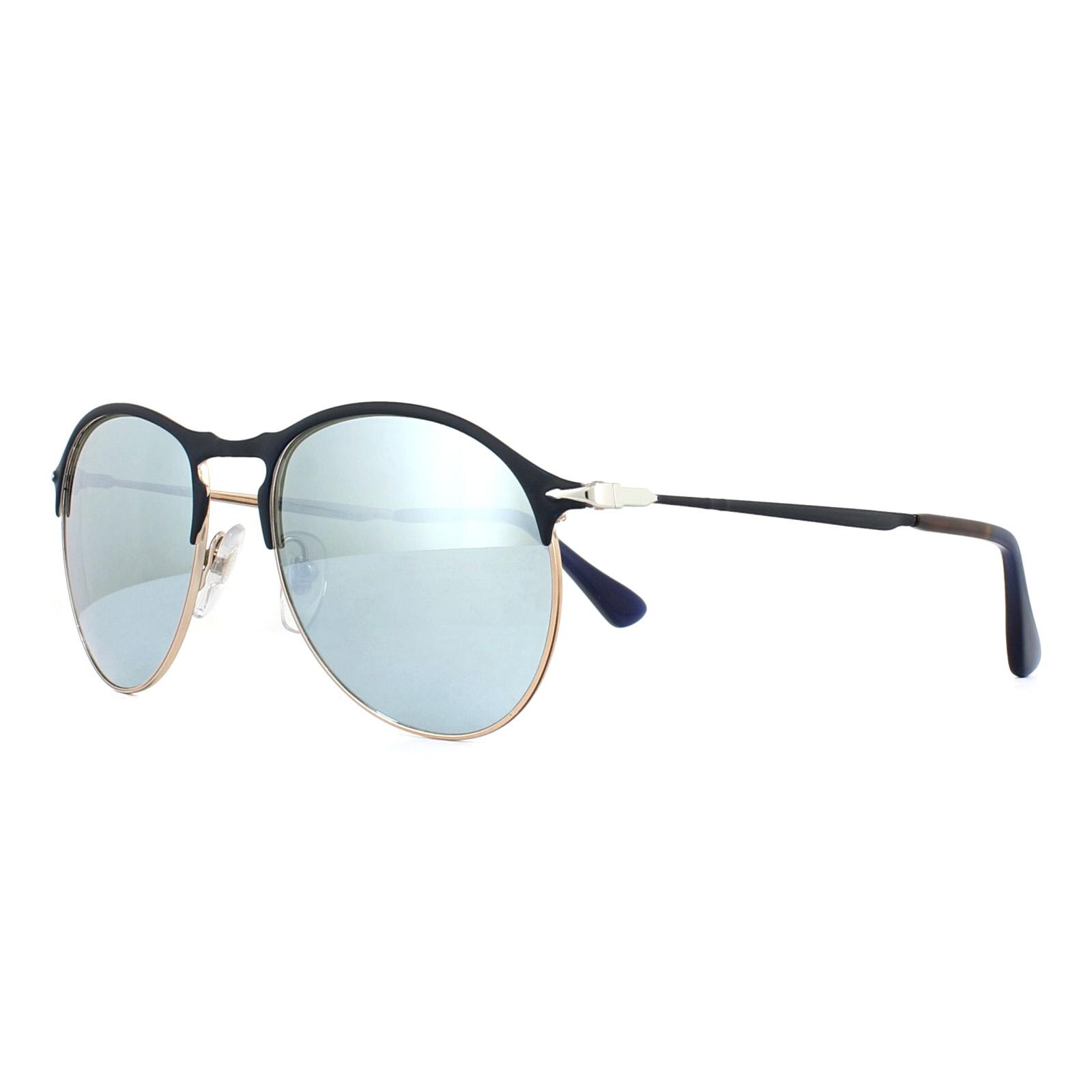 Persol Gafas de sol 7649s 107330 Azul Bronce Verde claro espejo | eBay