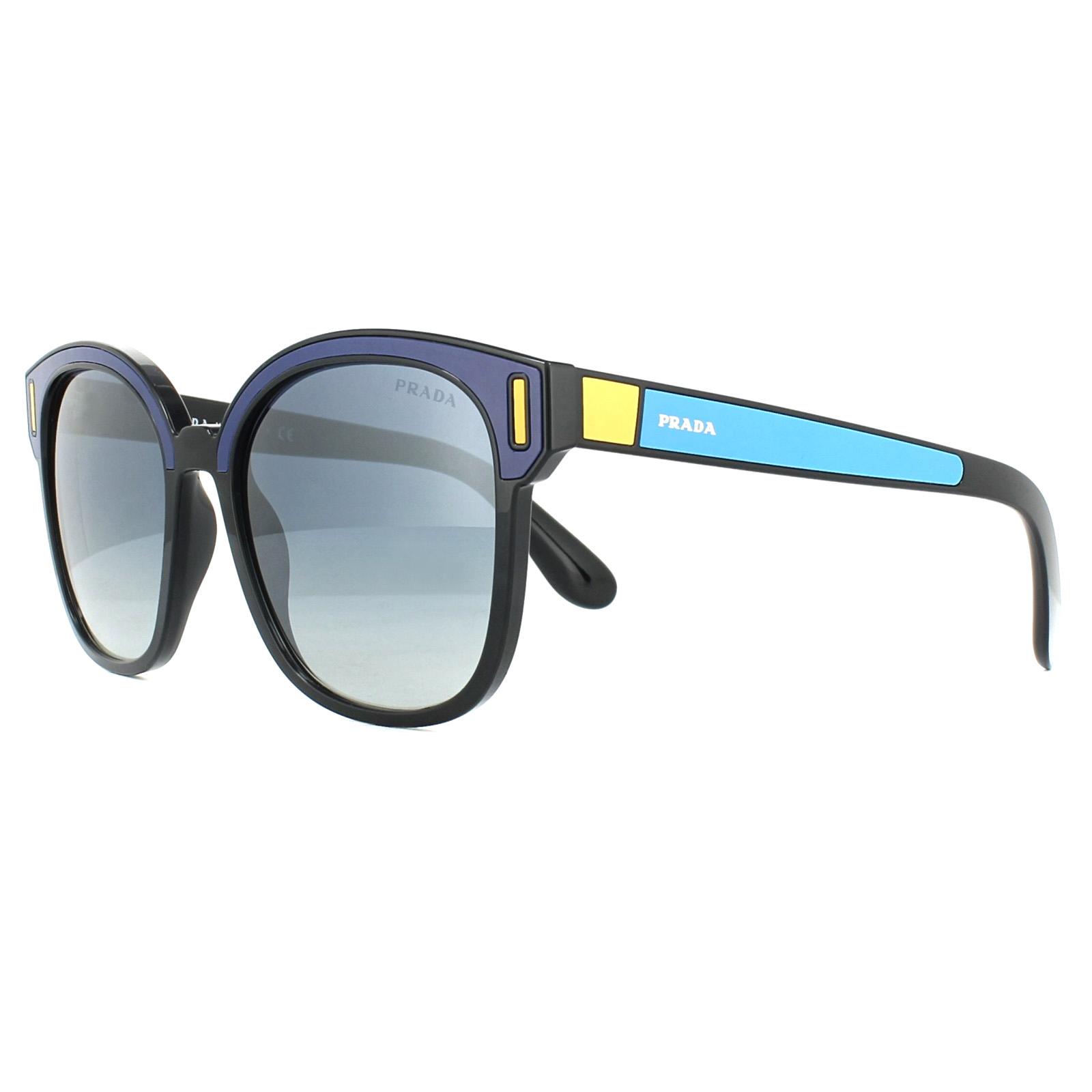 d4b16ea3072a ... get sentinel prada sunglasses 05us sui3a0 black blue yellow grey blue  gradient a8533 d7f06