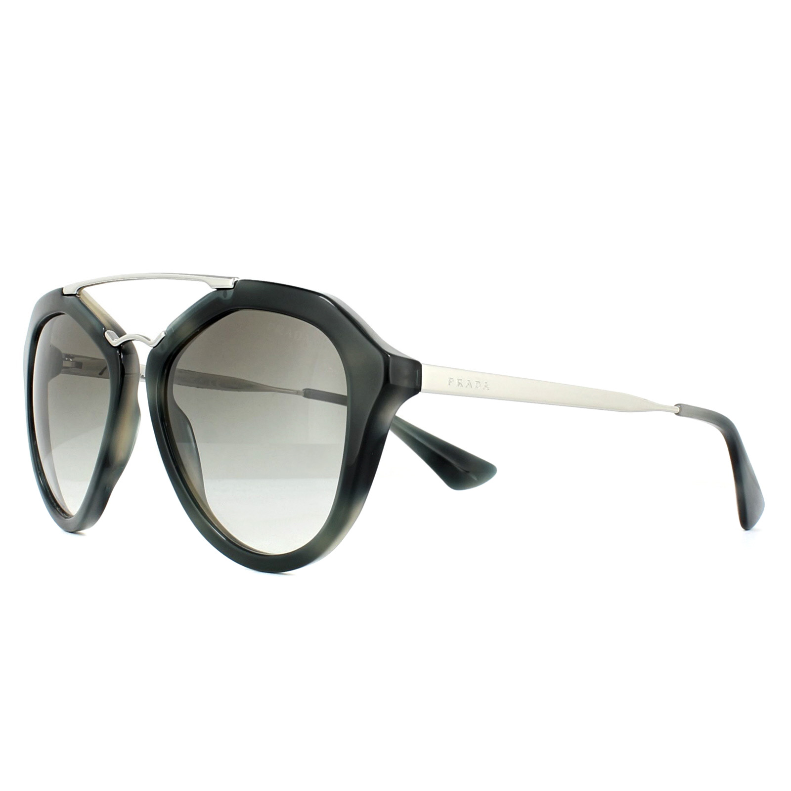 6c24399e8a Sentinel Prada Sunglasses Cinema 12QS USI0A7 Striped Grey Grey Gradient