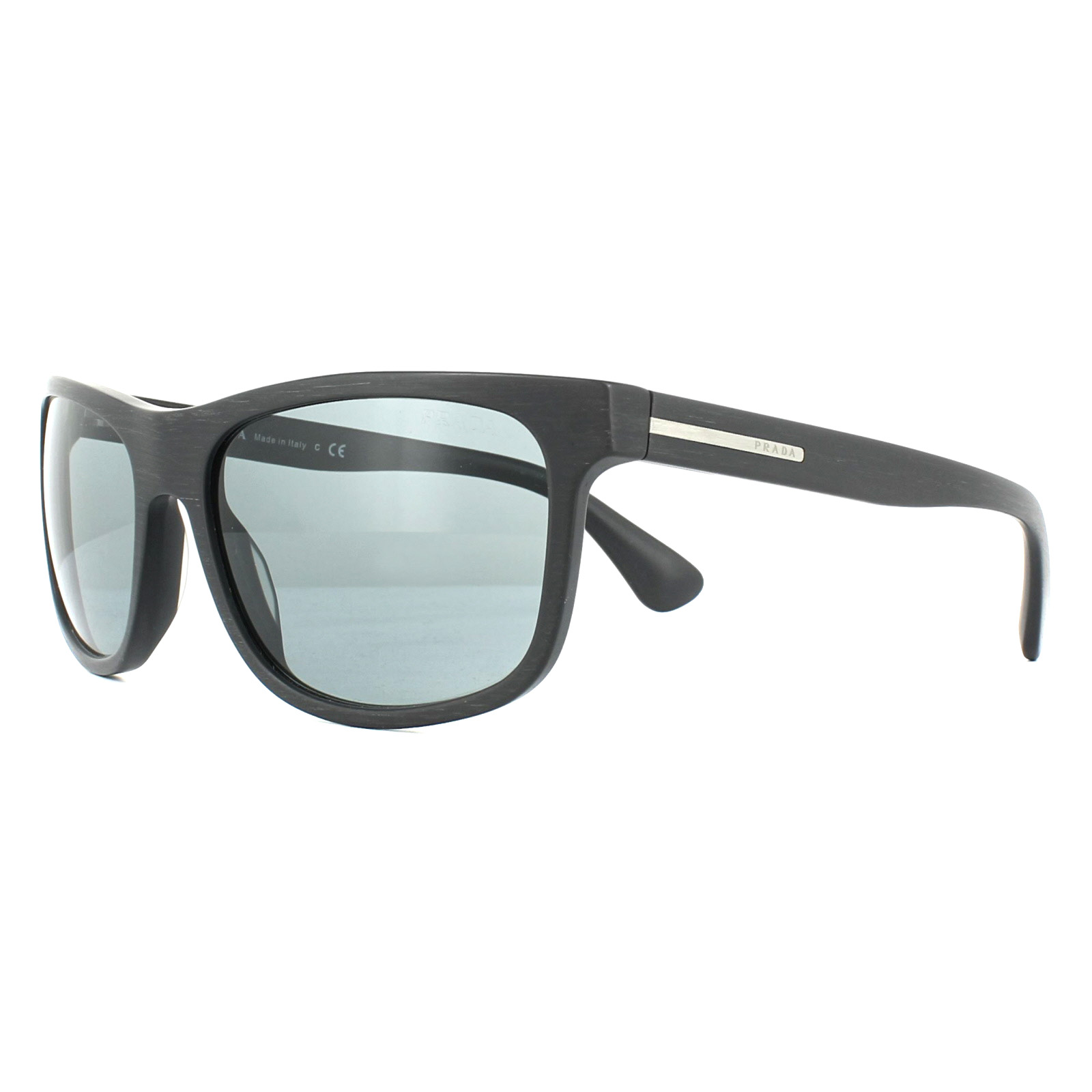 bdc7c630dd8 Sentinel Prada Sunglasses 15RS TV43C2 Matt Brushed Grey Dark Grey