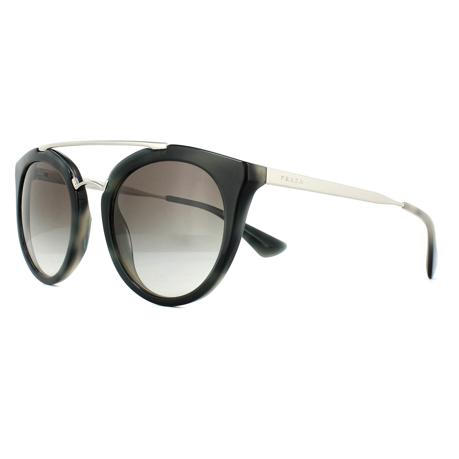 84c5ee40db Sentinel Prada Sunglasses PR 23SS USI0A7 Striped Grey Grey Gradient