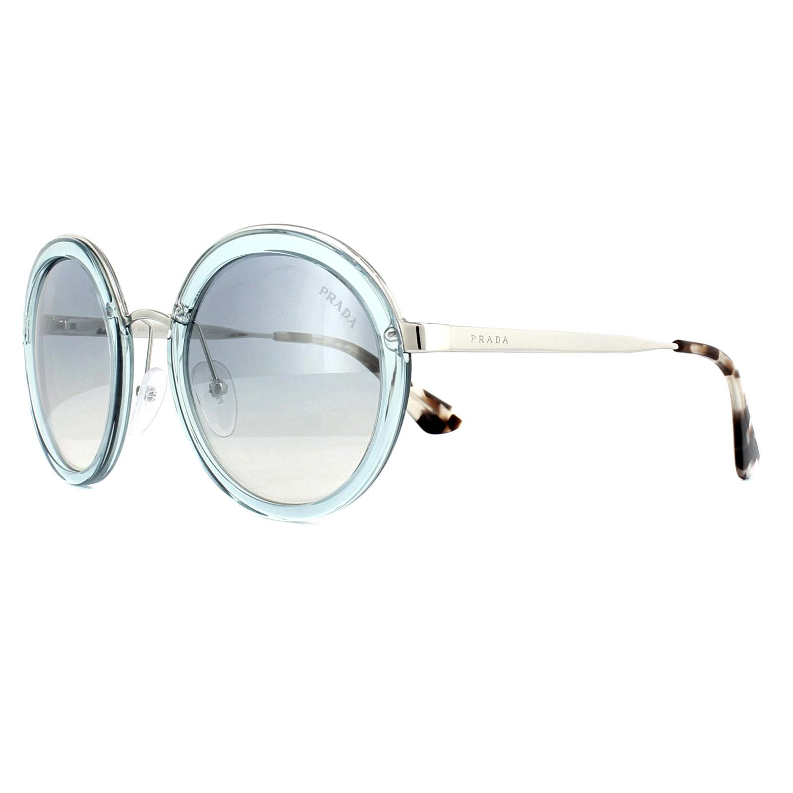 110d466f48b Sentinel Prada Sunglasses 50TS VYS5R0 Transparent Azure Blue Mirror