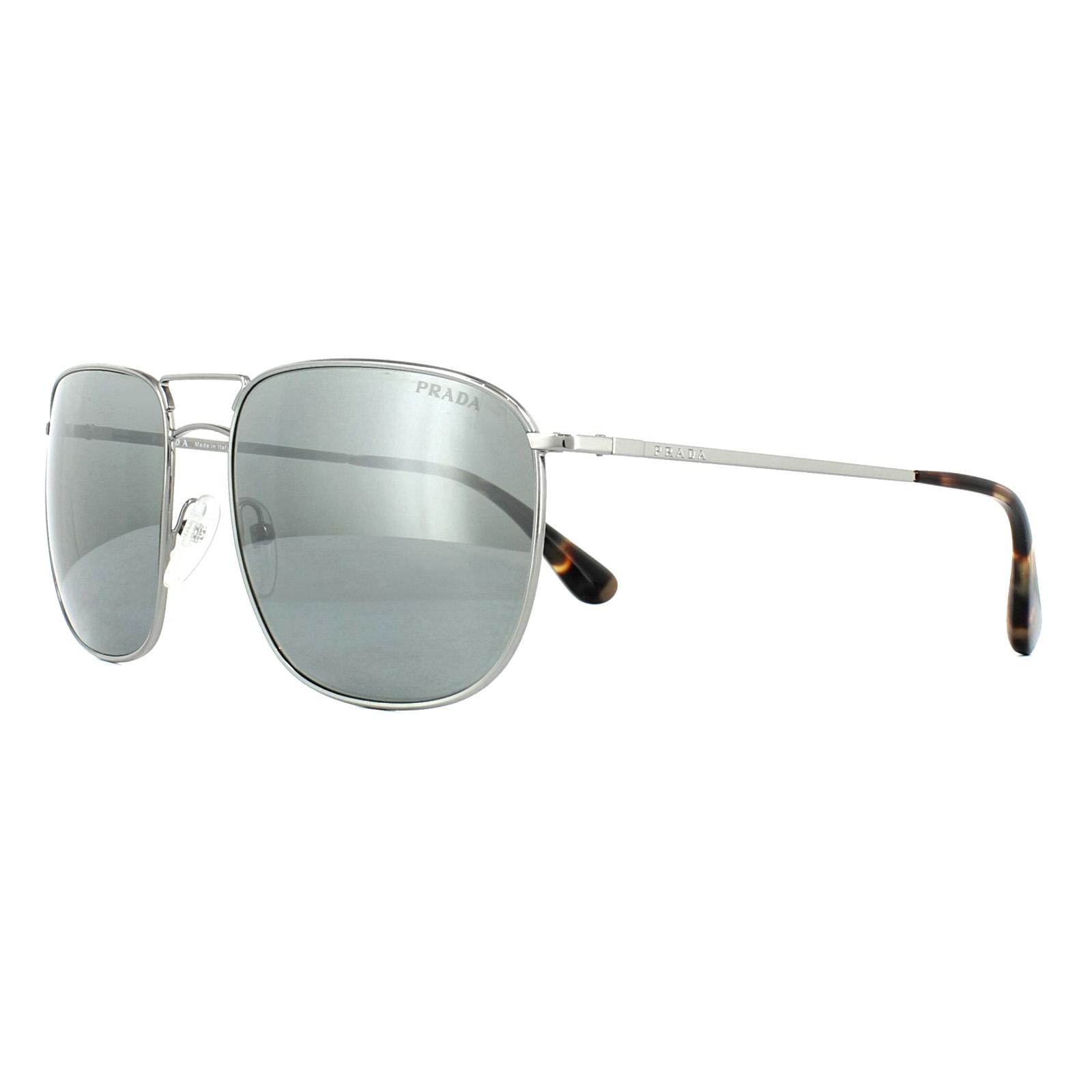 4e83dab4db Prada Sunglasses 52TS 5AV7W1 Lead Grey Silver Mirror 8053672673012 ...