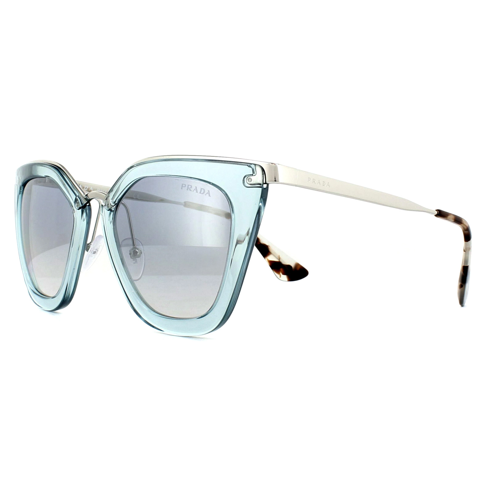 91ab24c8f6 Sentinel Prada Sunglasses Cinema Evolution 53SS VYS5R0 Transparent Azure  Blue Mirror